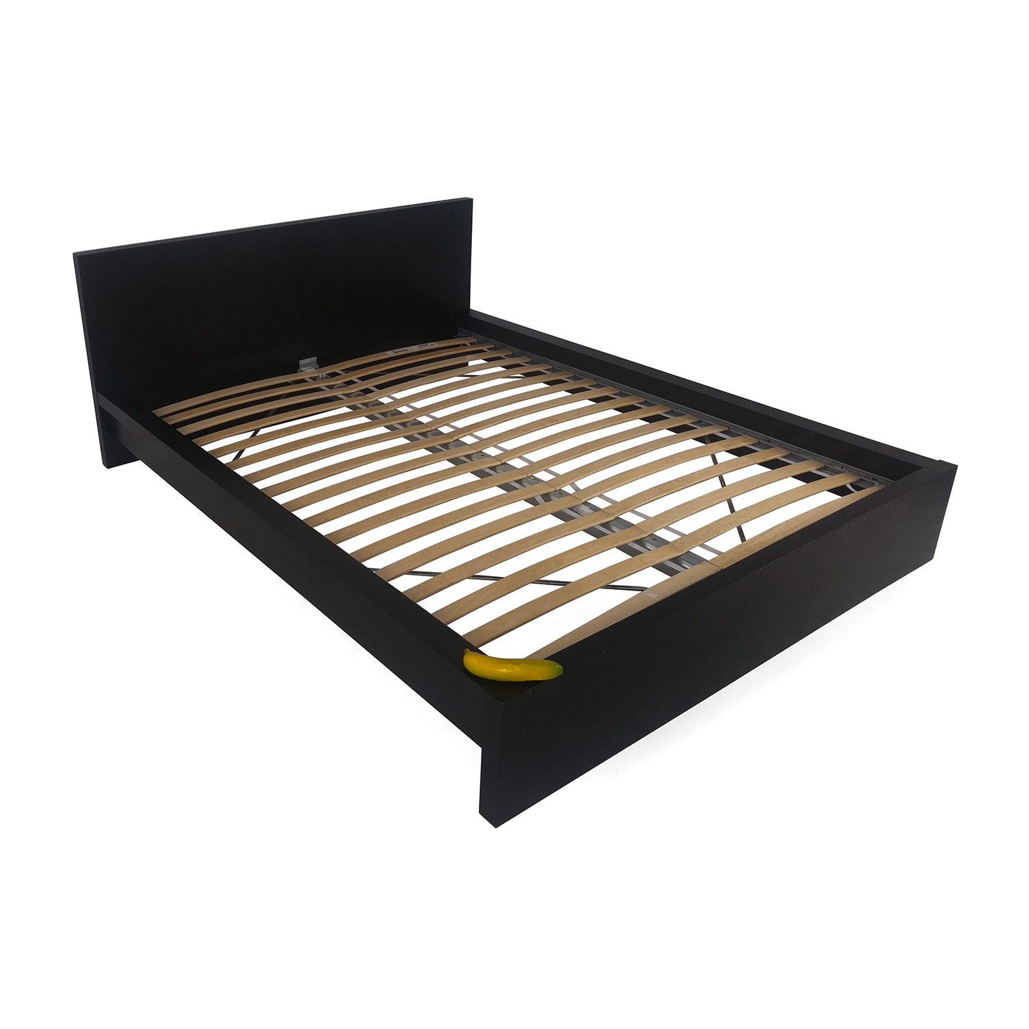 57 off ikea queen black bed frame beds for Ikea mattress frame