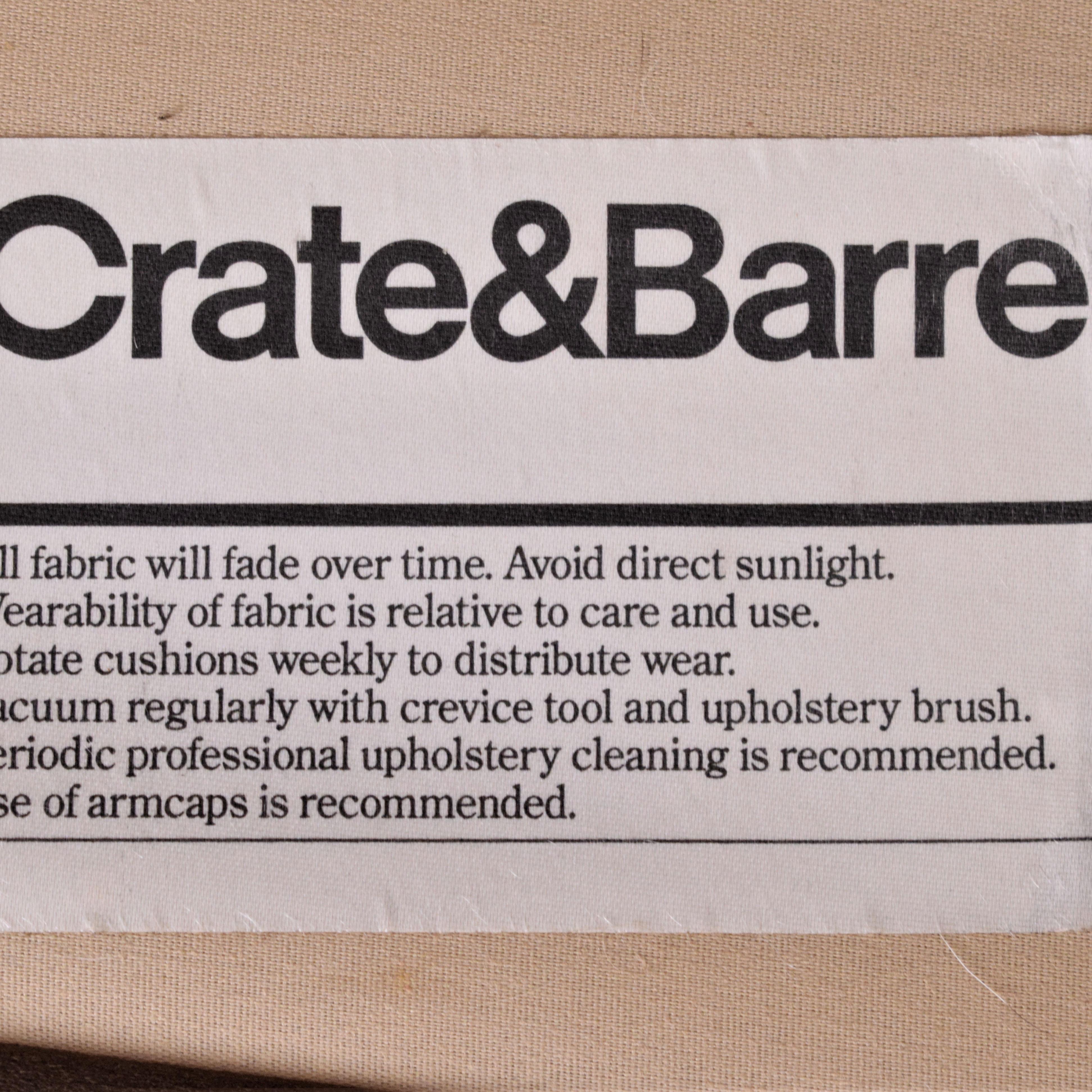 buy Crate & Barrel Fabric Sofa Crate & Barrel