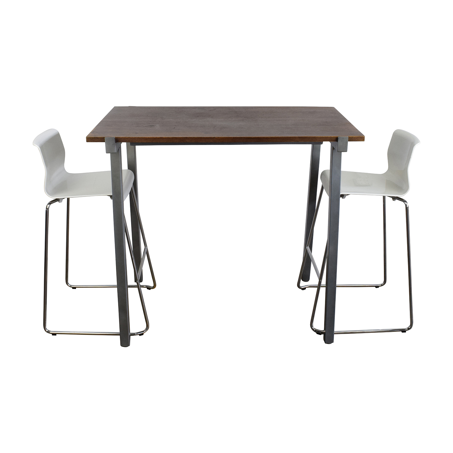 buy CB2 High Dining Table and Chairs Set CB2 Dinner Tables