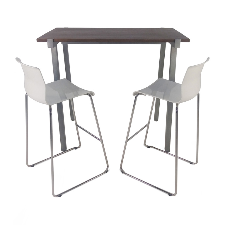 CB2 CB2 High Dining Table and Chairs Set discount