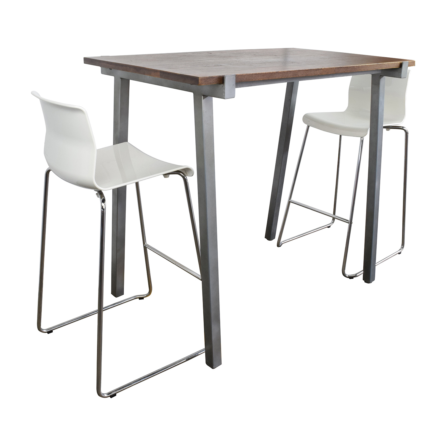 buy CB2 High Dining Table and Chairs Set CB2 Tables