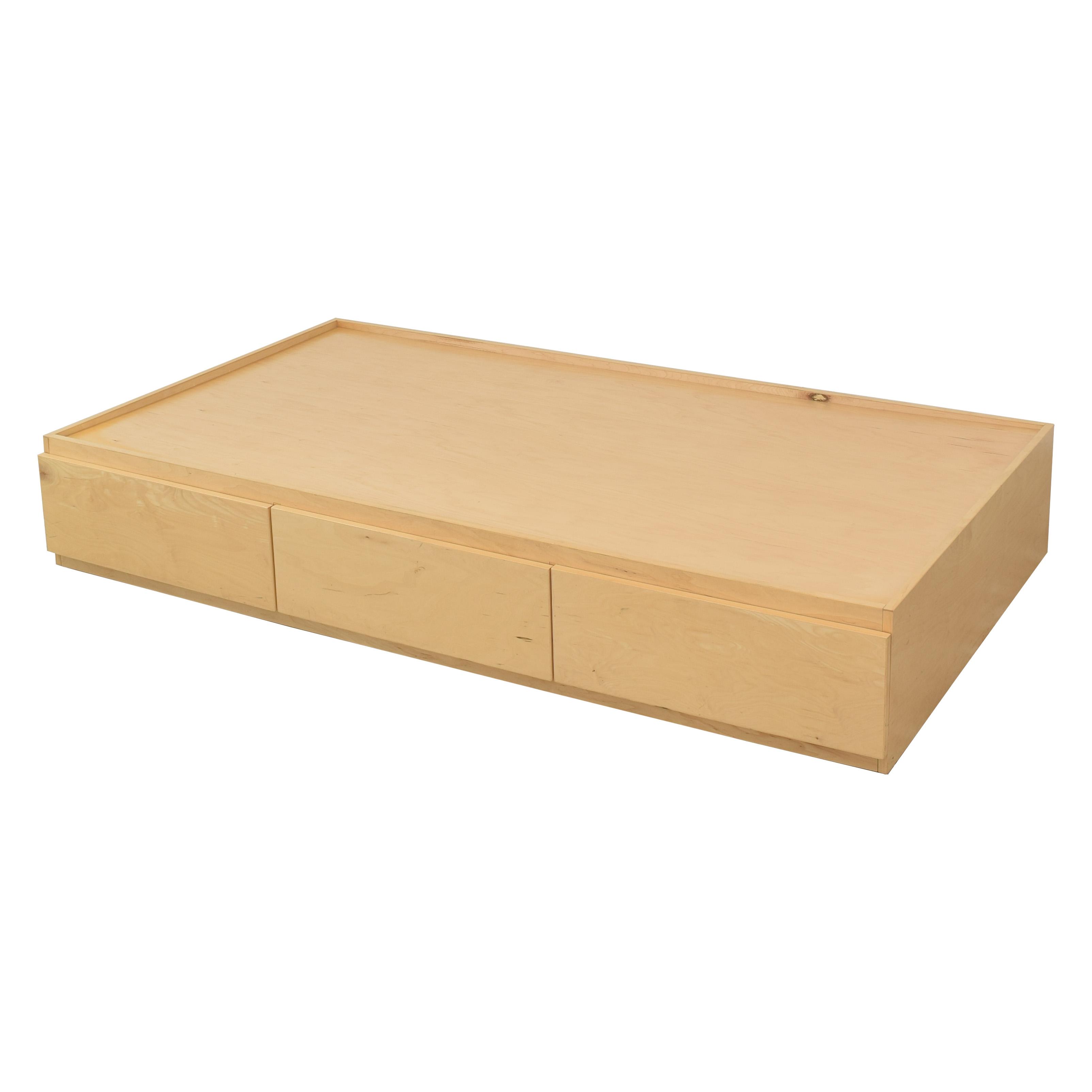Urbangreen Furniture Urbangreen Thompson Twin Storage Bed brown