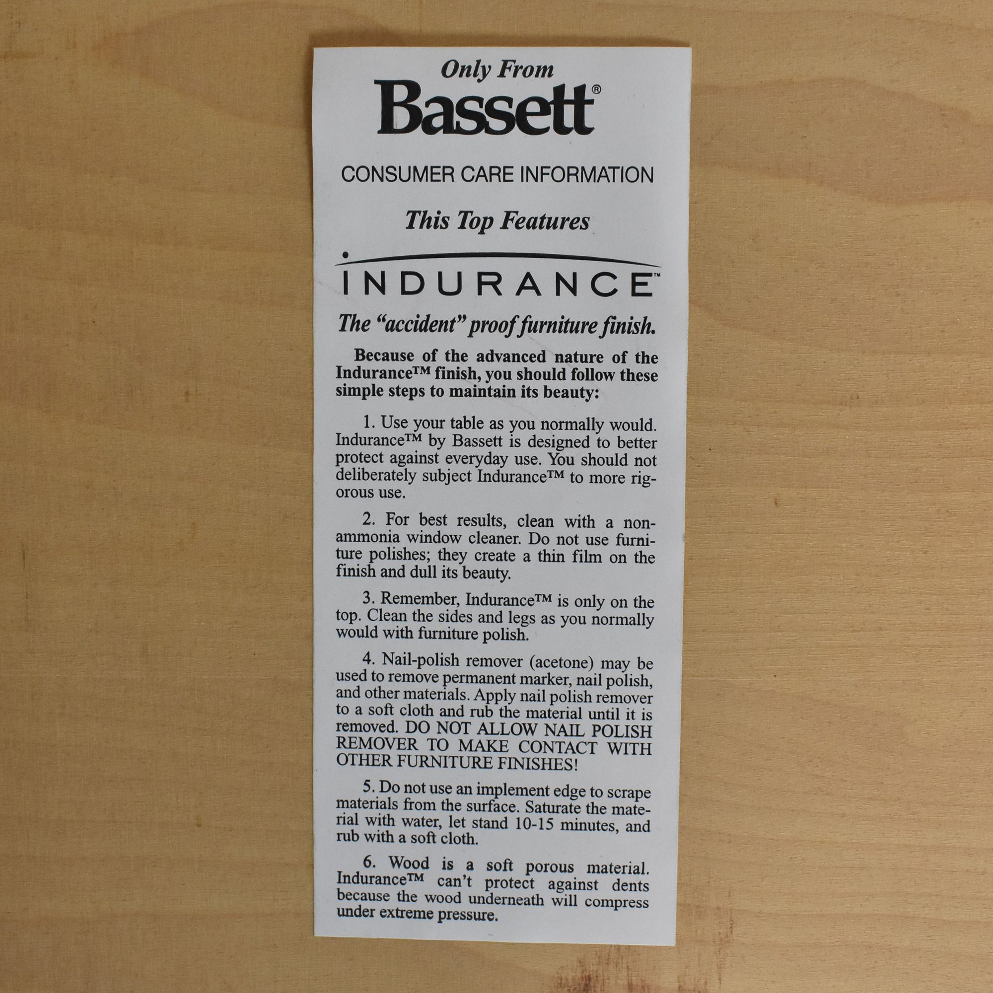 Bassett Furniture Bassett Extendable Dining Table discount