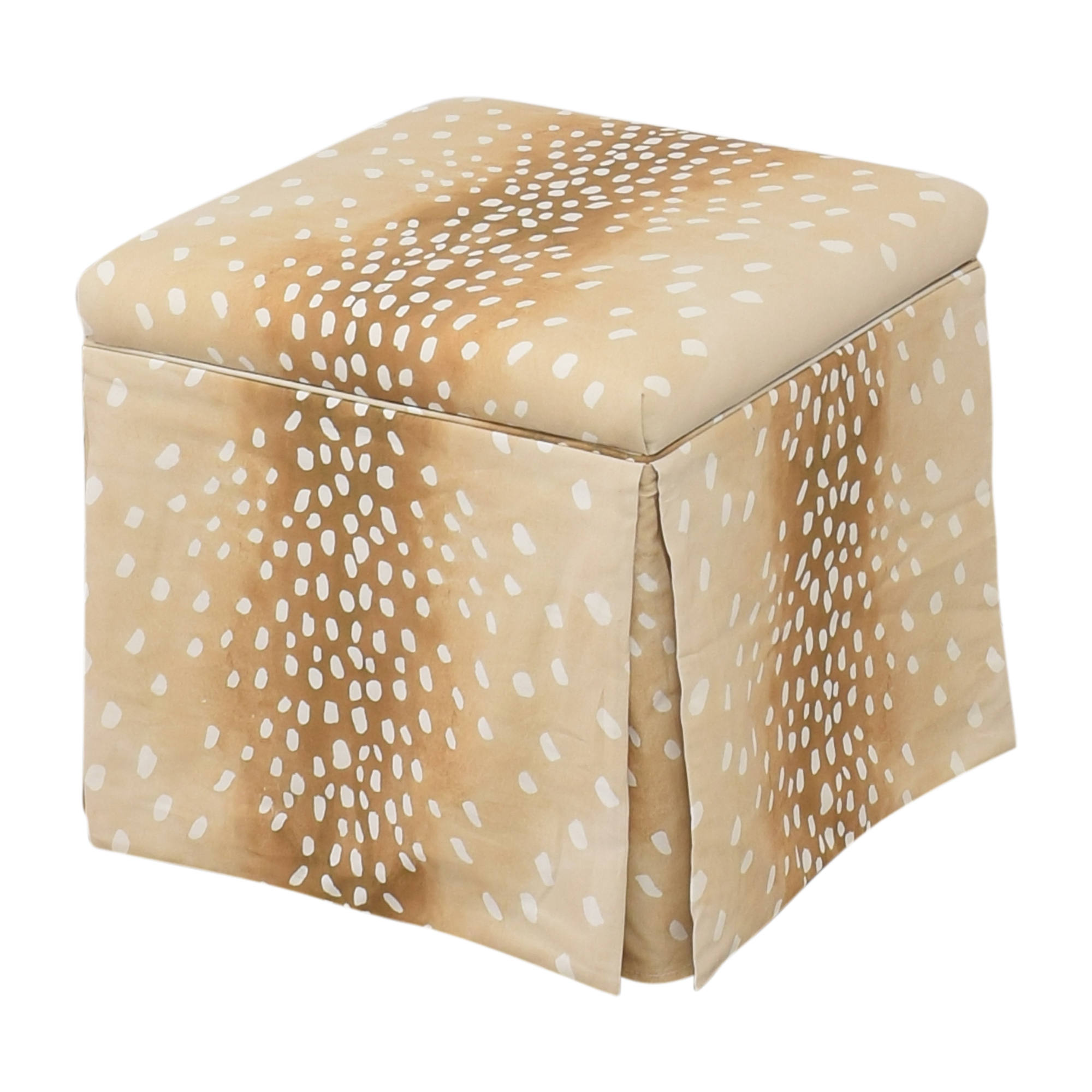 shop The Inside Fawn Skirted Storage Ottoman The Inside