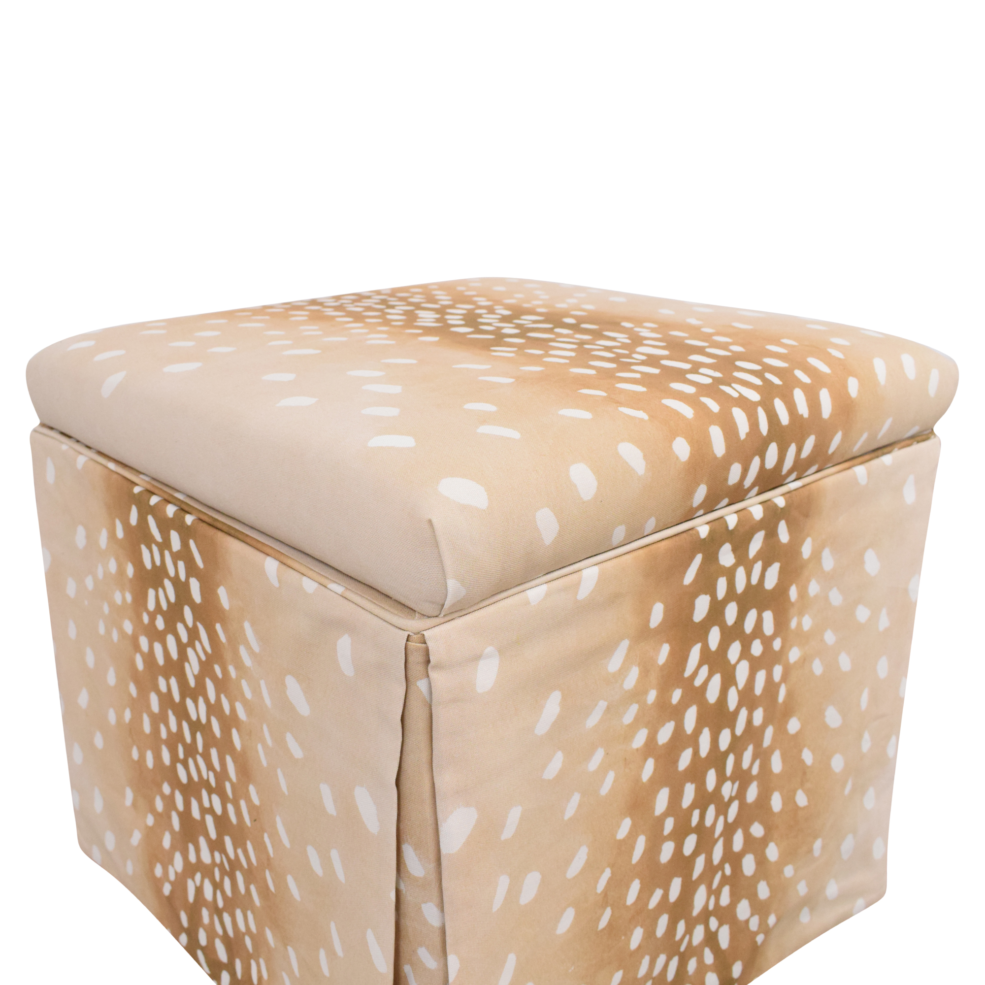 buy The Inside Fawn Skirted Storage Ottoman The Inside