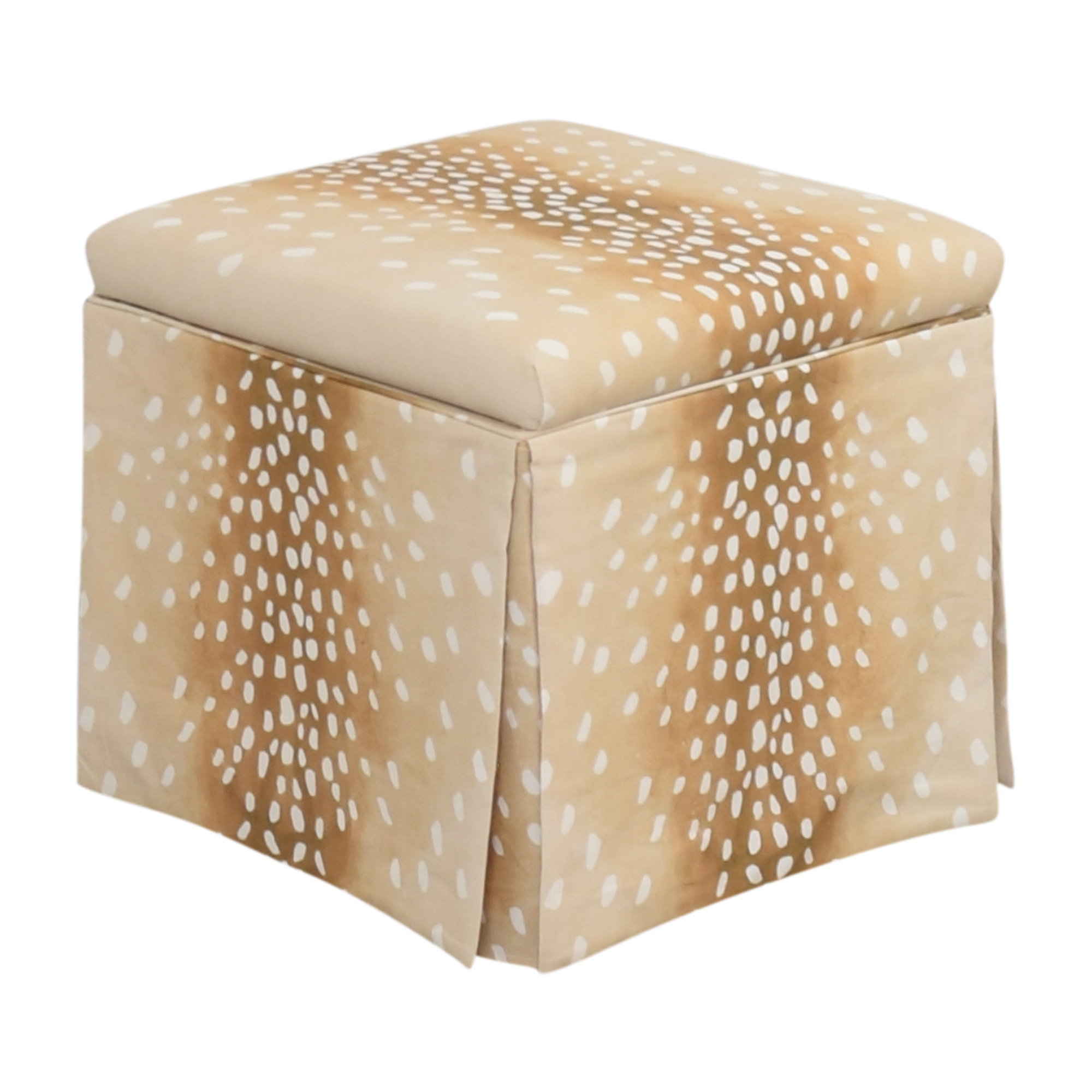 buy The Inside Fawn Skirted Storage Ottoman The Inside Chairs