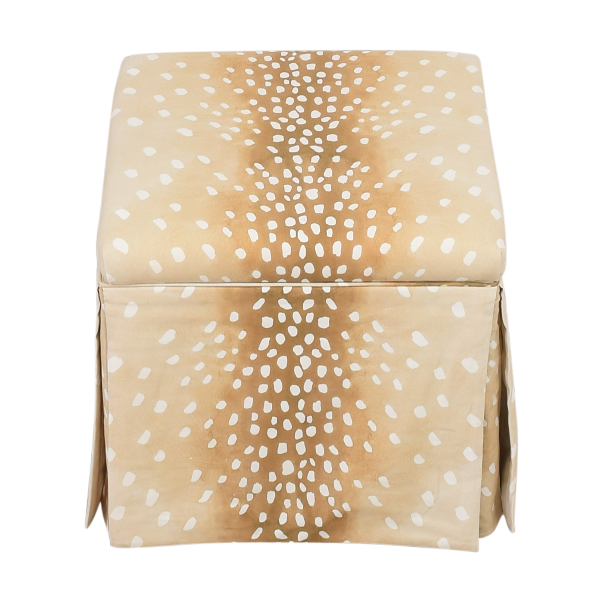 buy The Inside Fawn Skirted Storage Ottoman The Inside Ottomans