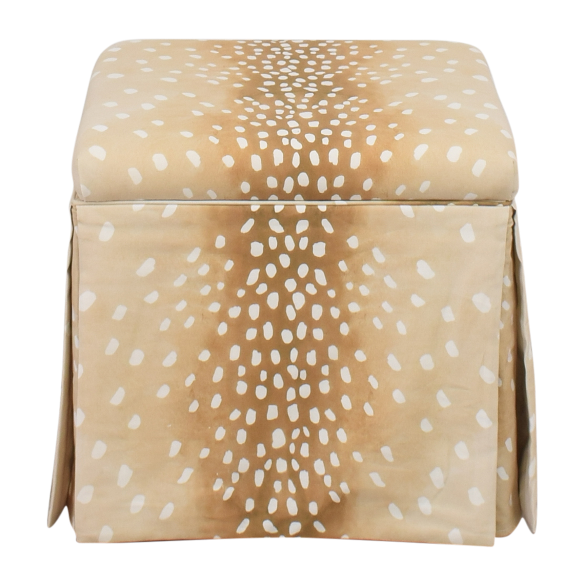 The Inside The Inside Fawn Skirted Storage Ottoman price