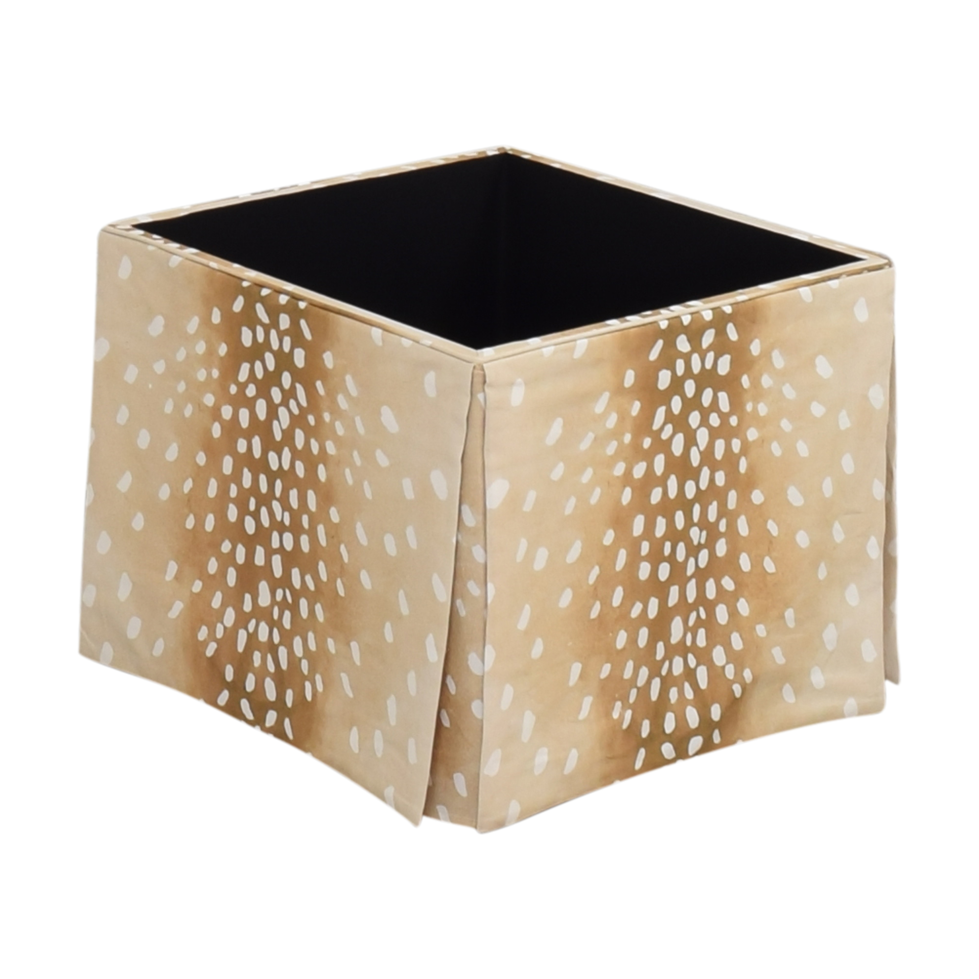 The Inside The Inside Fawn Skirted Storage Ottoman Ottomans