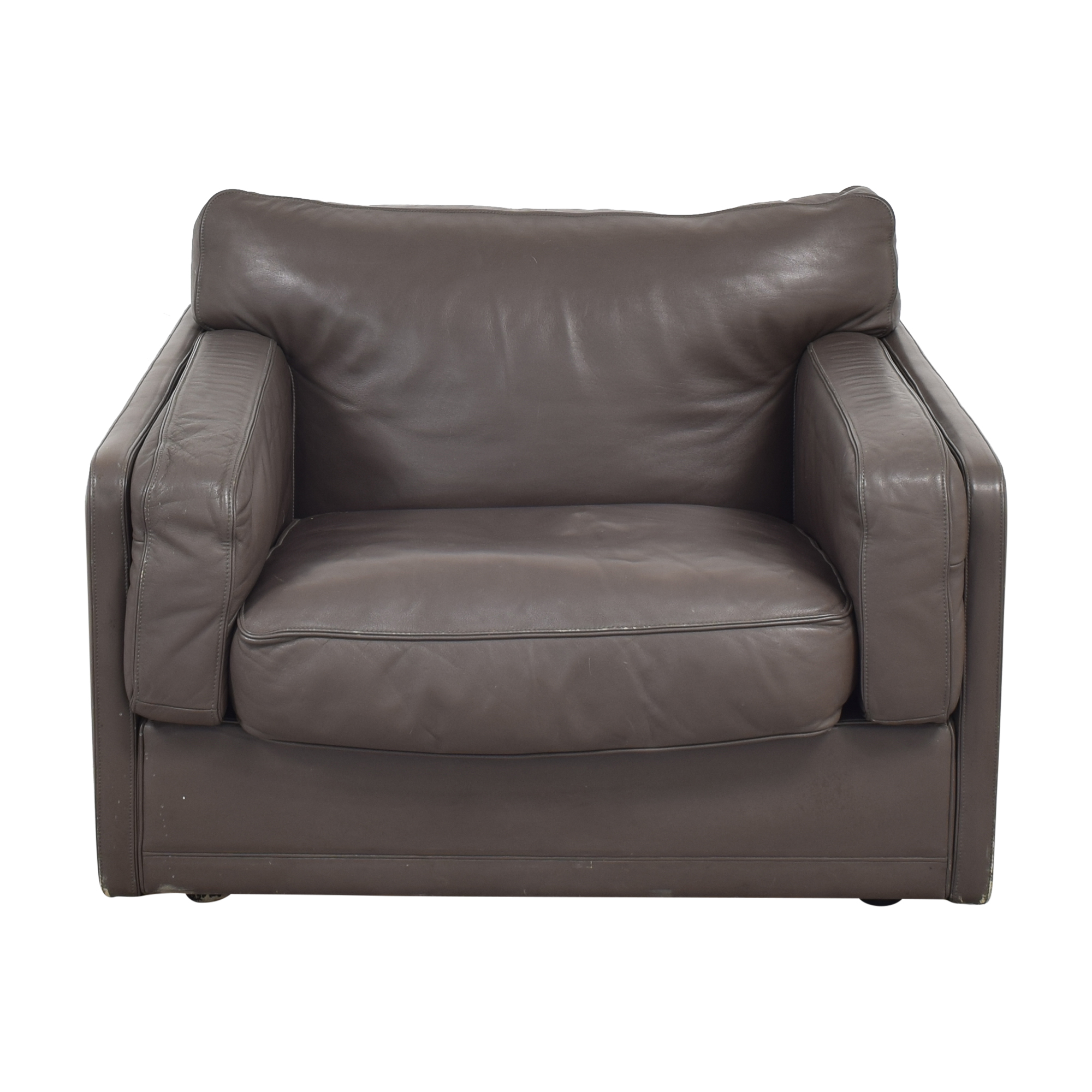 Poltrona Frau Poltrona Frau Socrate Leather Armchair for sale