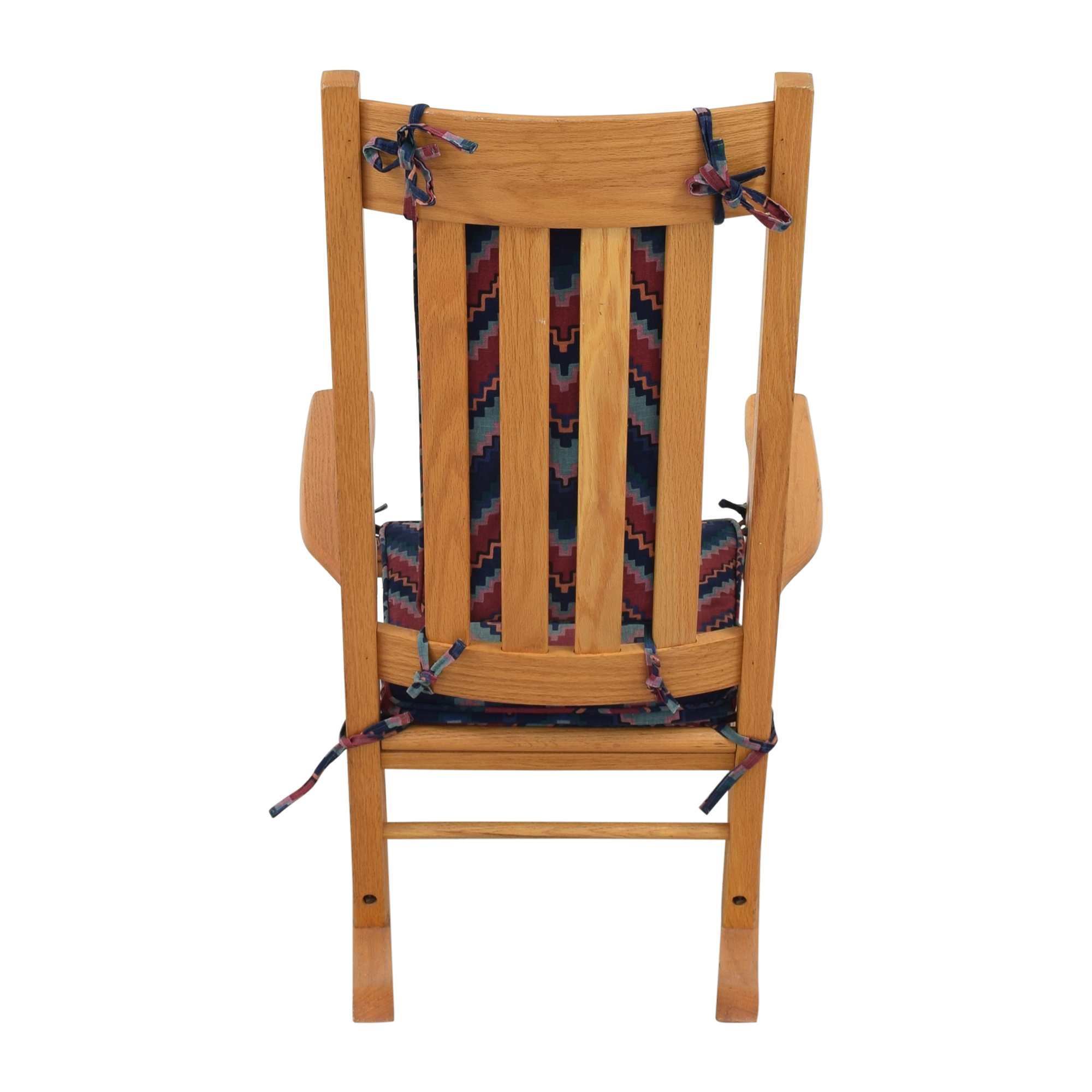 Rocking Chair with Fabric Cushions second hand