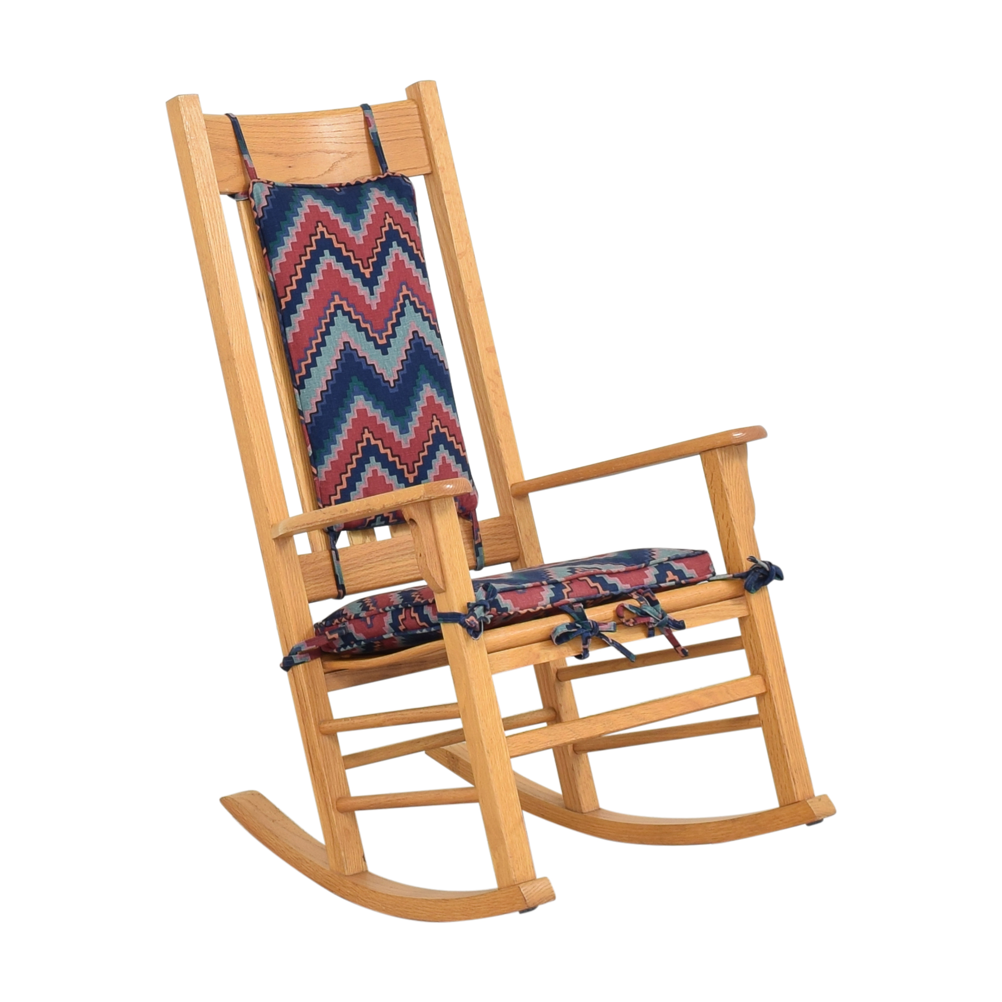 shop Rocking Chair with Fabric Cushions  Chairs