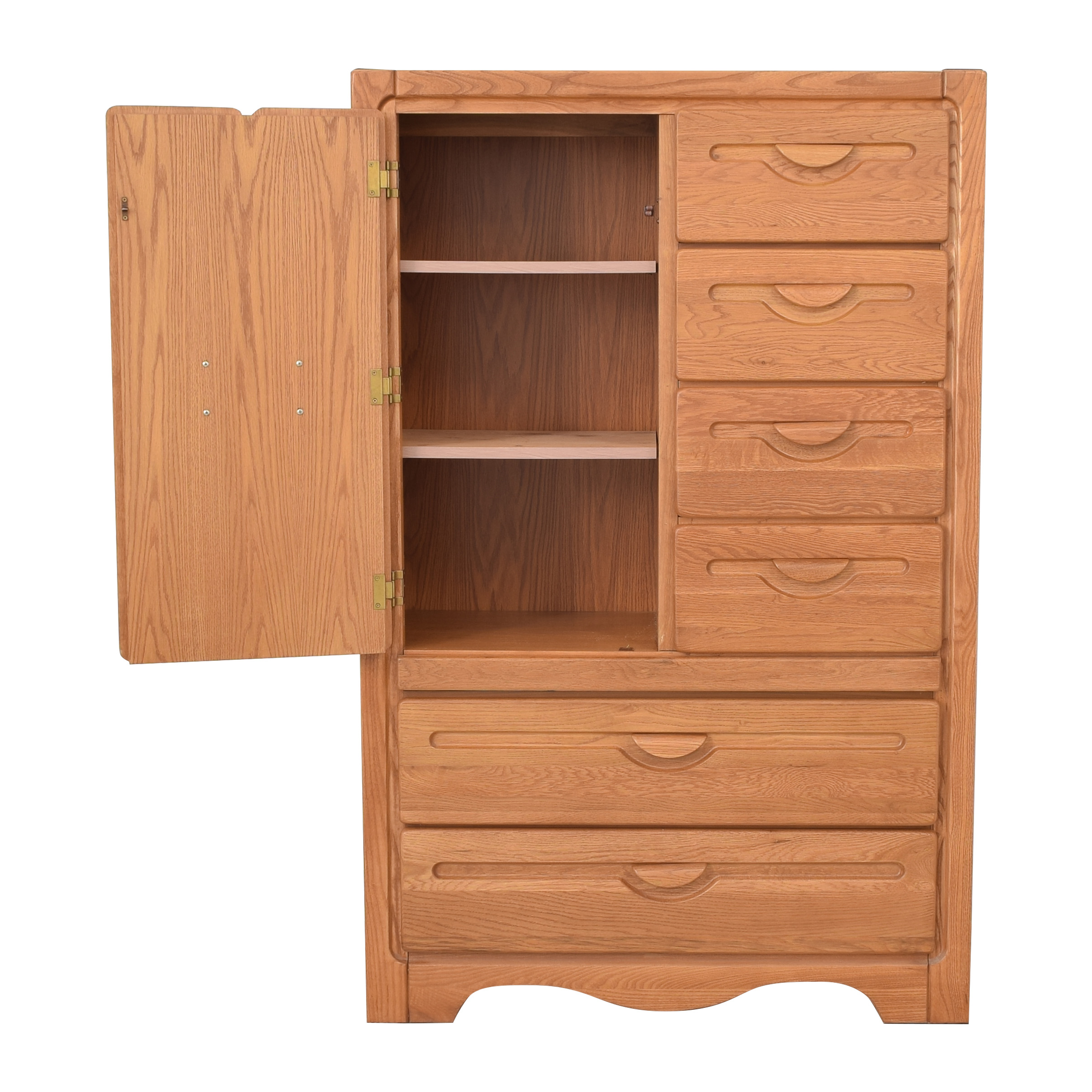 Six Drawer and Cabinet Wardrobe ct