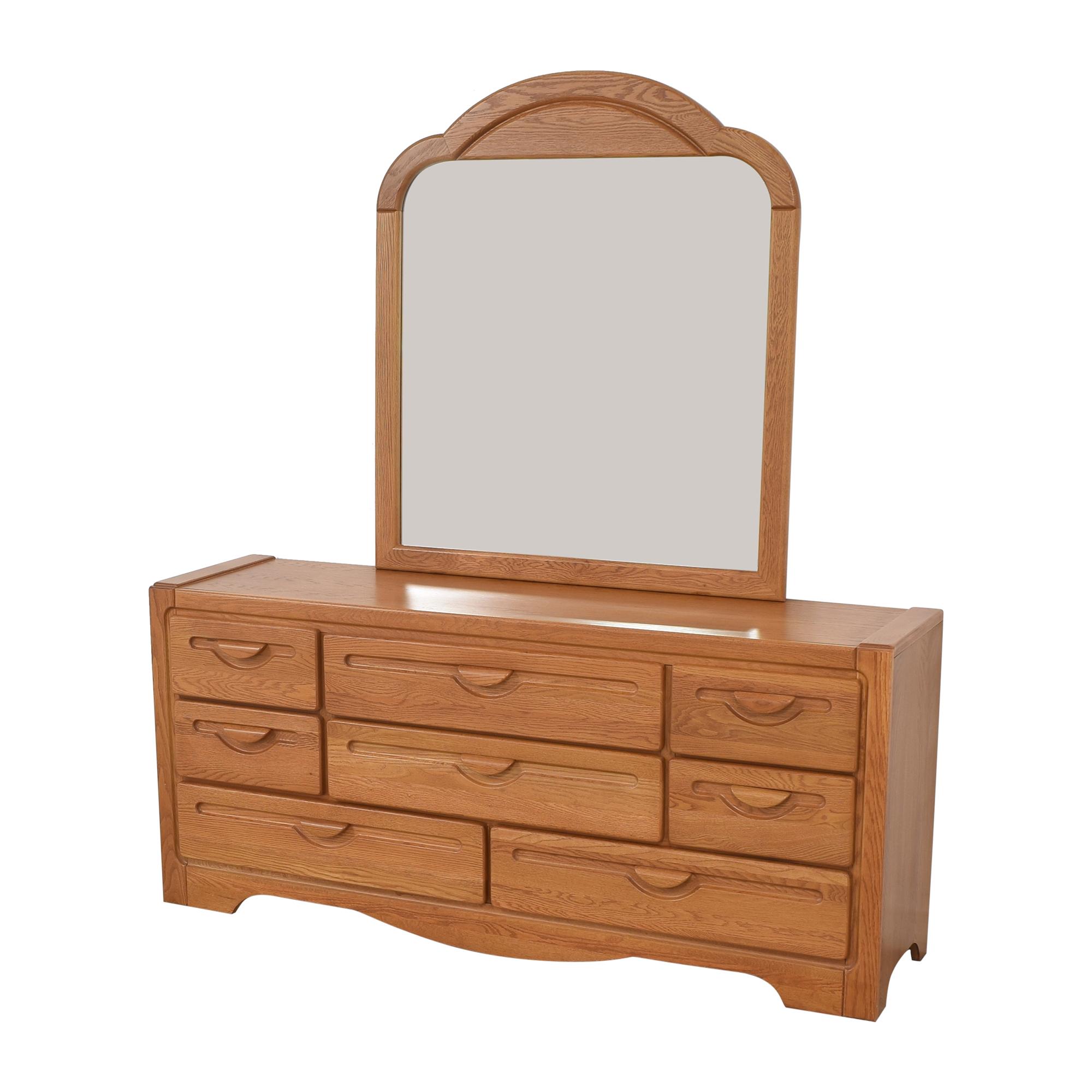 Webb Furniture Webb Furniture Dresser with Mirror Storage
