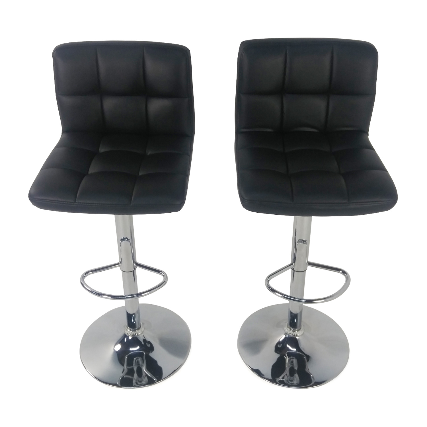 buy Roundhill Black Adjustable Swivel Chairs Roundhill