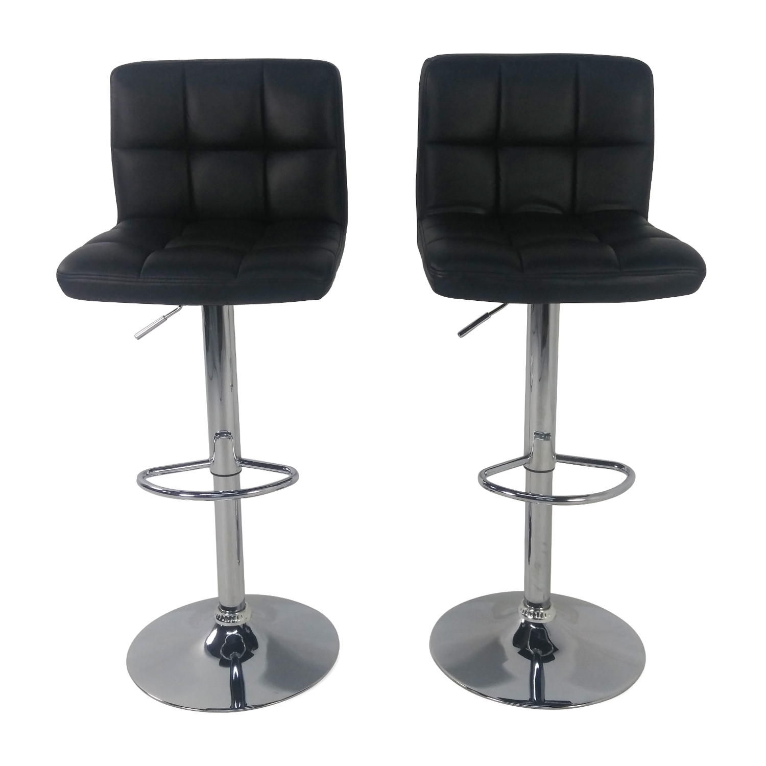 Roundhill Roundhill Black Adjustable Swivel Chairs used  sc 1 st  Furnishare & 40% OFF - IKEA IKEA White Glen Bar Stools / Chairs islam-shia.org