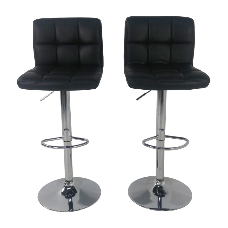 Roundhill Furniture Roundhill Black Adjustable Swivel Chairs used