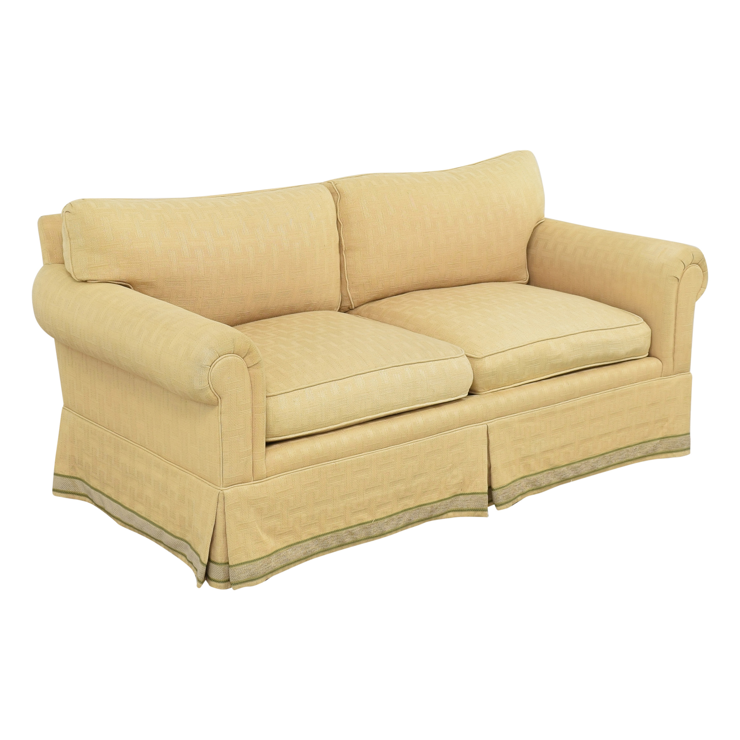Jules Rist Jules Rist Signature Roll Arm Two Cushion Sofa ct