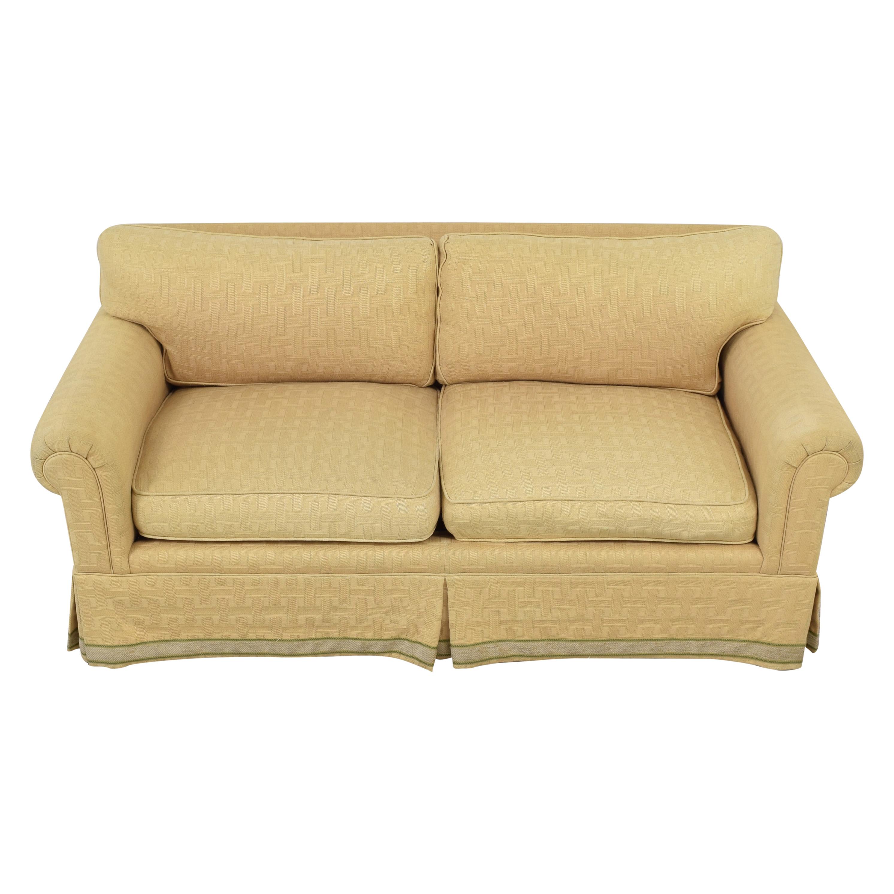 Jules Rist Jules Rist Signature Roll Arm Two Cushion Sofa yellow
