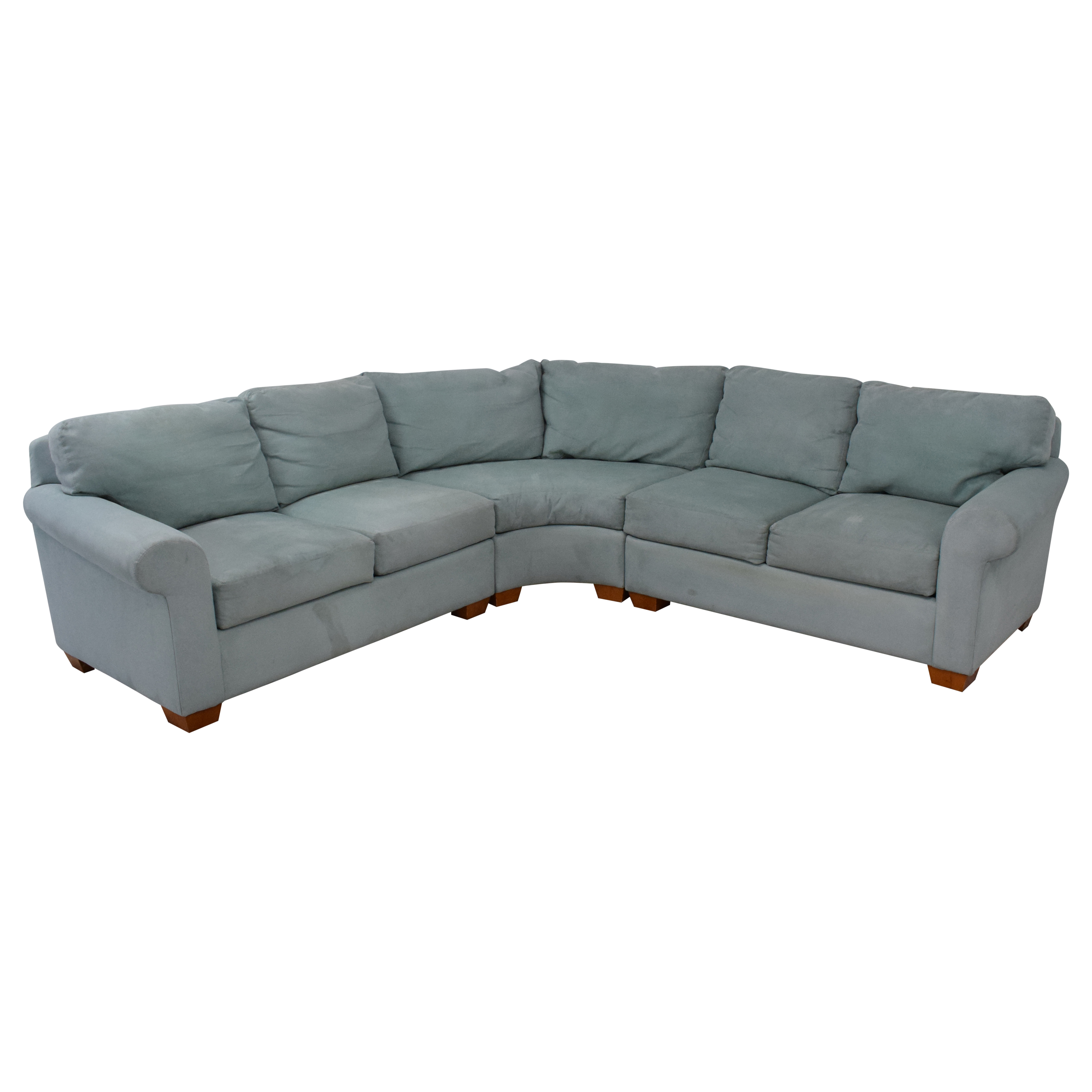 Youngs Furniture Youngs Three Piece Corner Sectional light blue