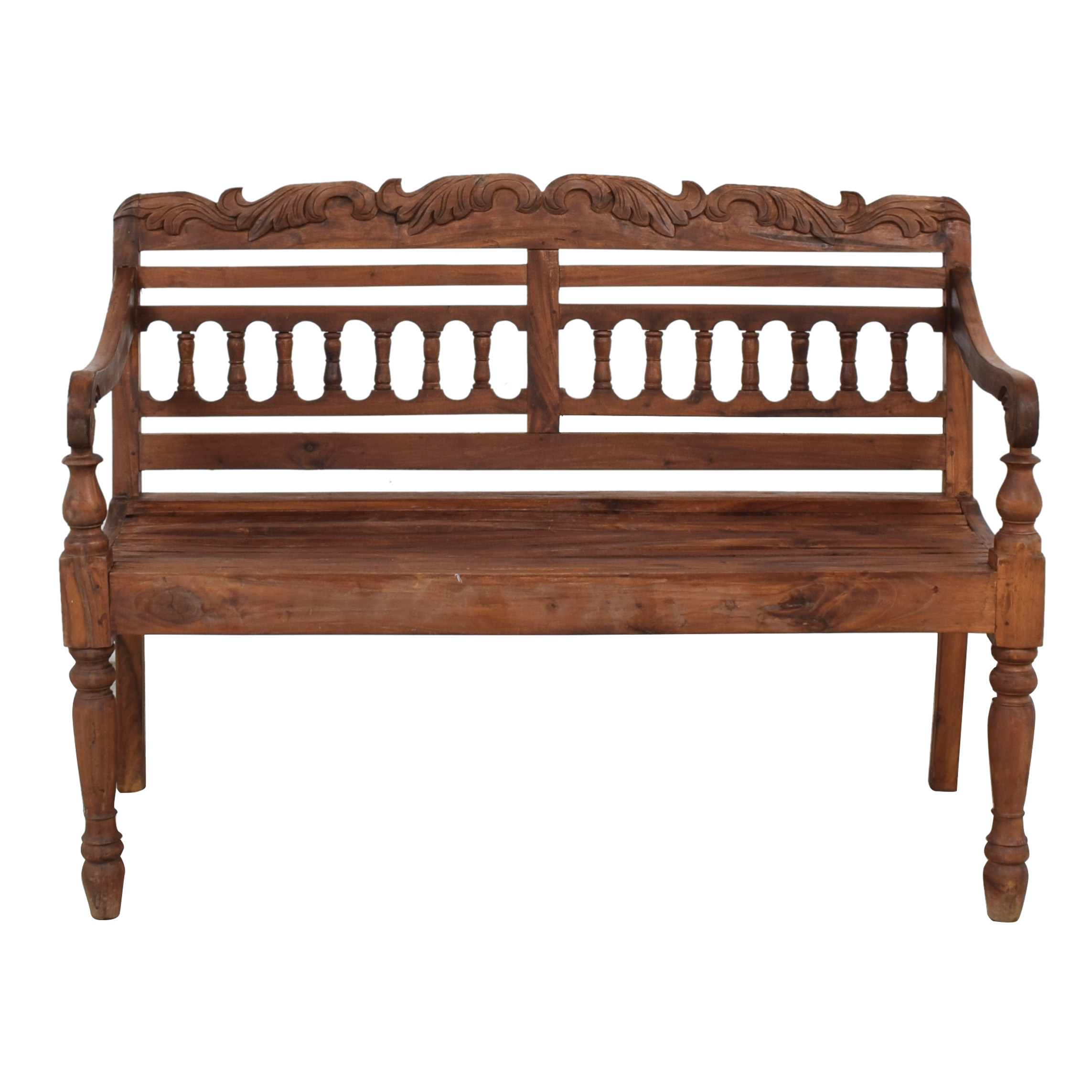 Custom Carved Bench