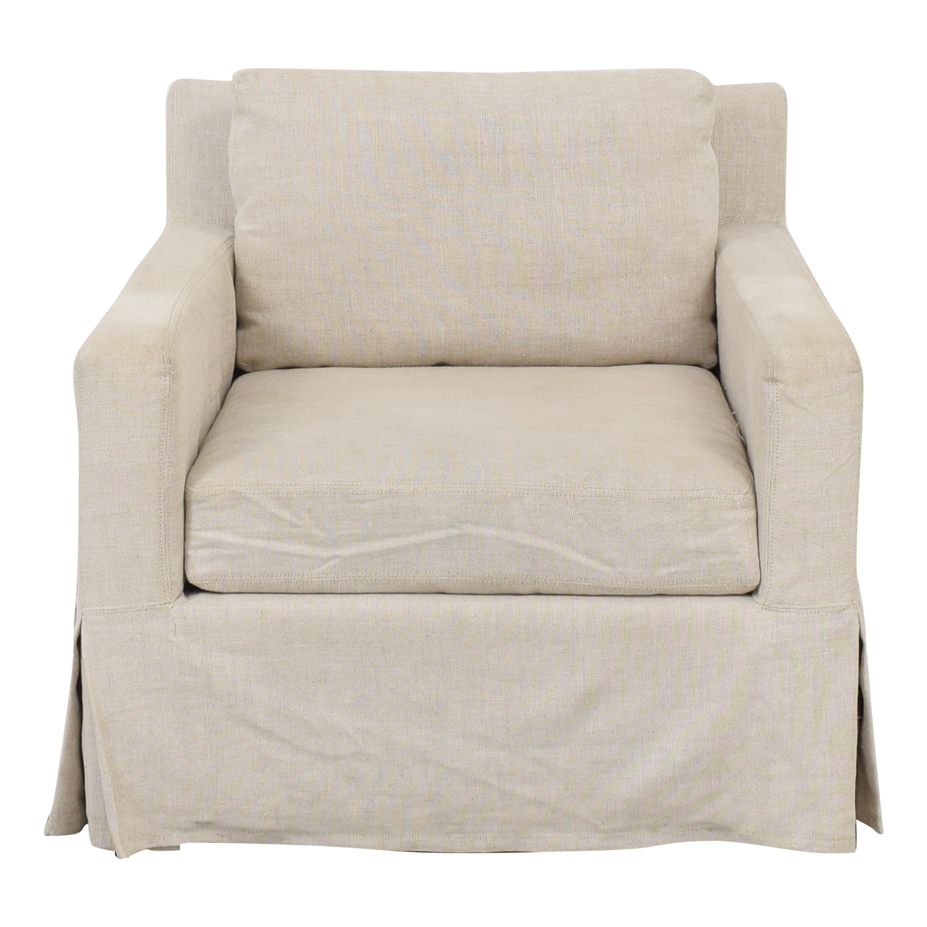 Restoration Hardware Restoration Hardware Belgian Linen Track Arm Slipcovered Chair for sale