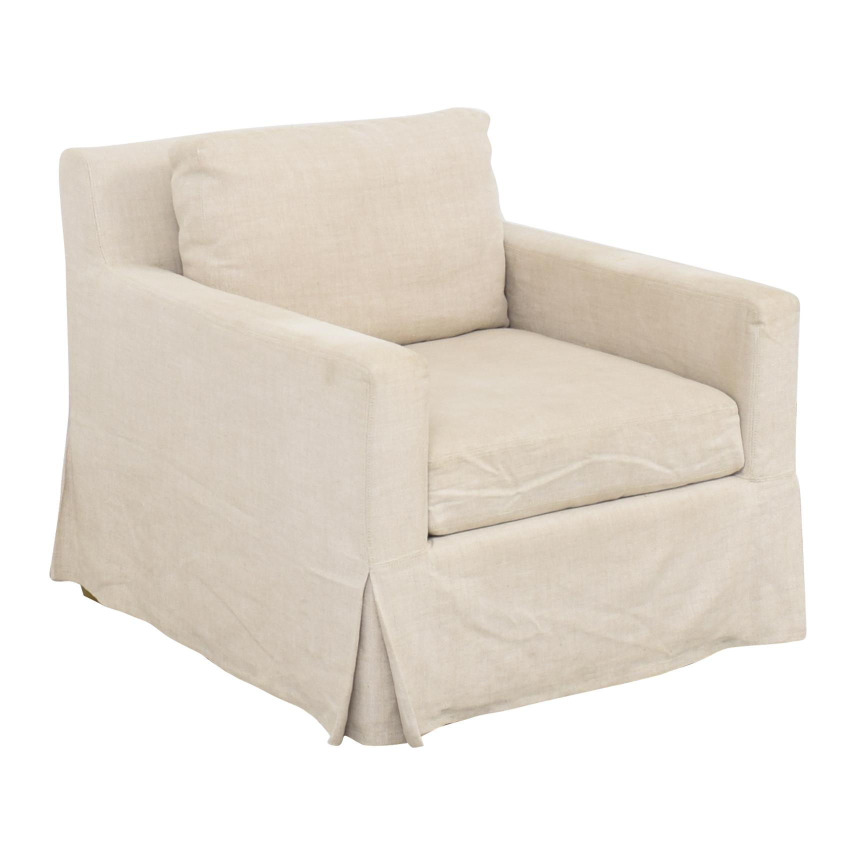 buy Restoration Hardware Belgian Linen Track Arm Slipcovered Chair Restoration Hardware Chairs