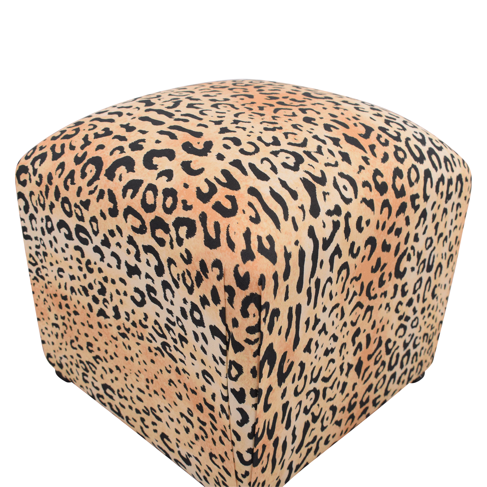 The Inside The Inside Deco Ottoman brown & black