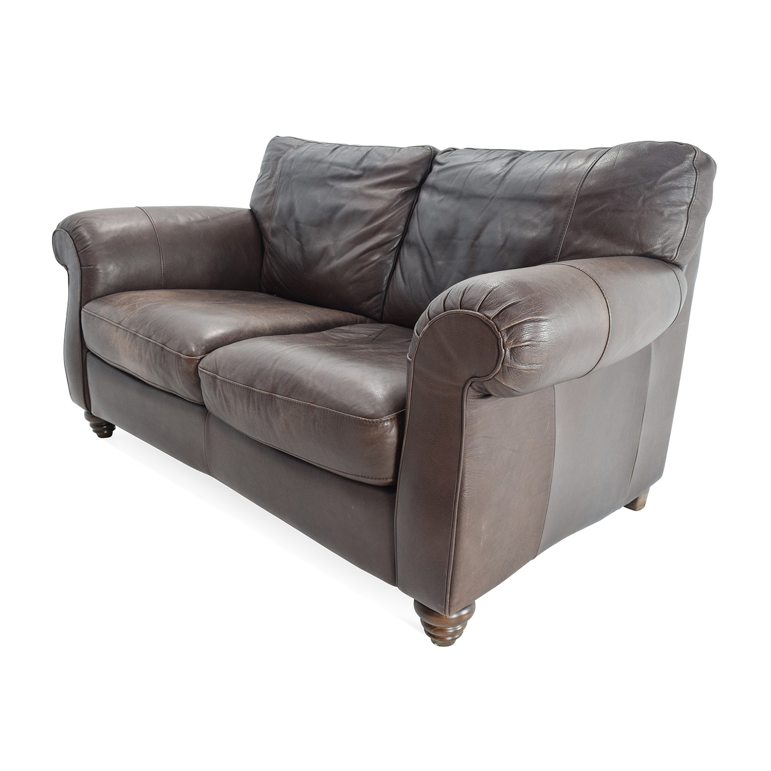 81 Off Natuzzi Natuzzi Brown Leather Loveseat Sofas