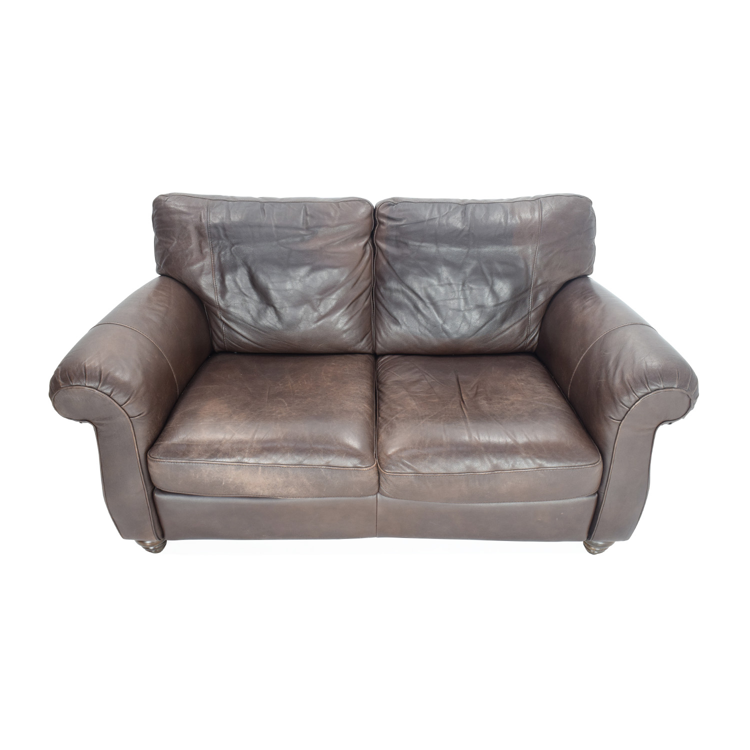 Natuzzi Natuzzi Brown Leather Loveseat used