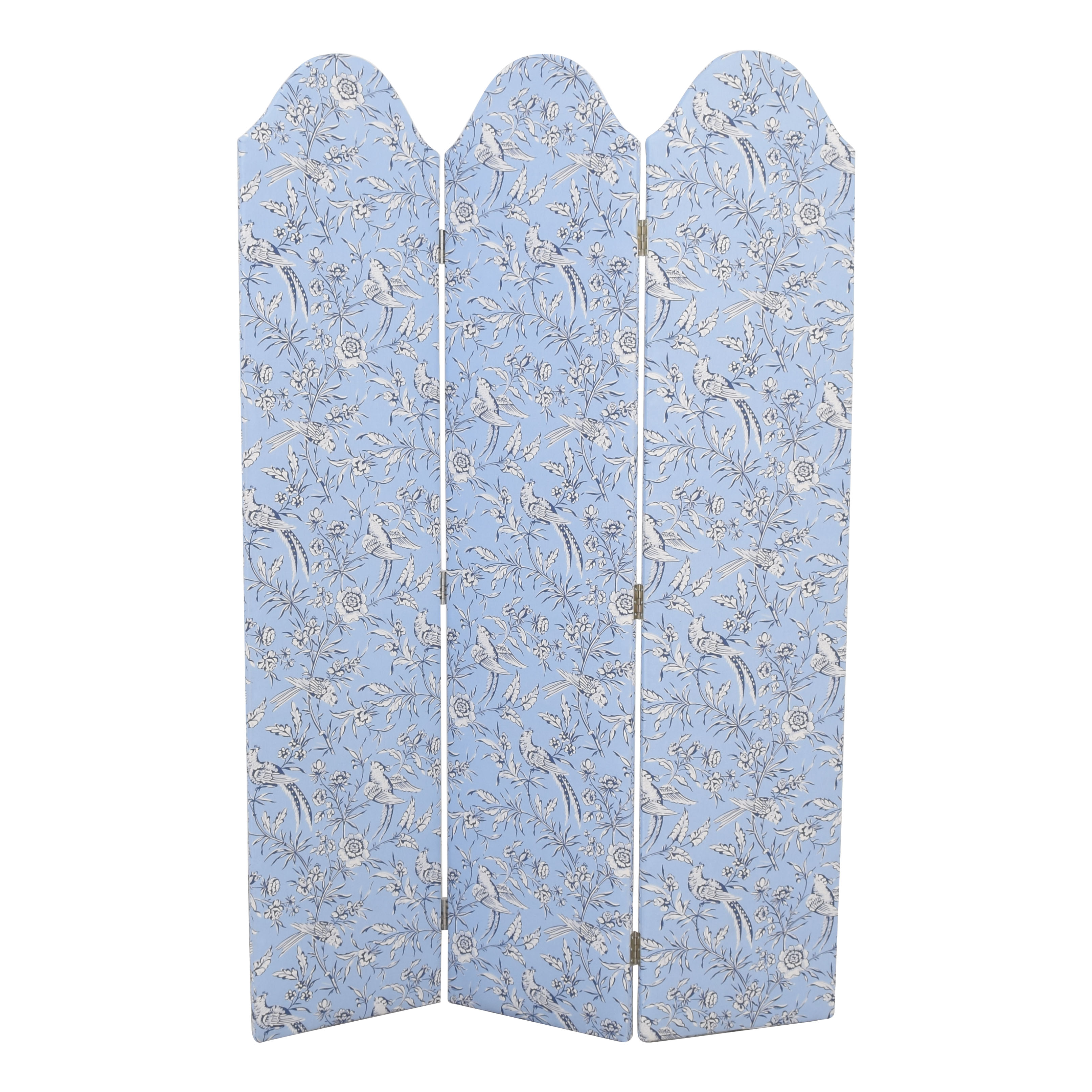 shop The Inside Scalloped Screen in Blue Aviary by Scalamandre The Inside Decor