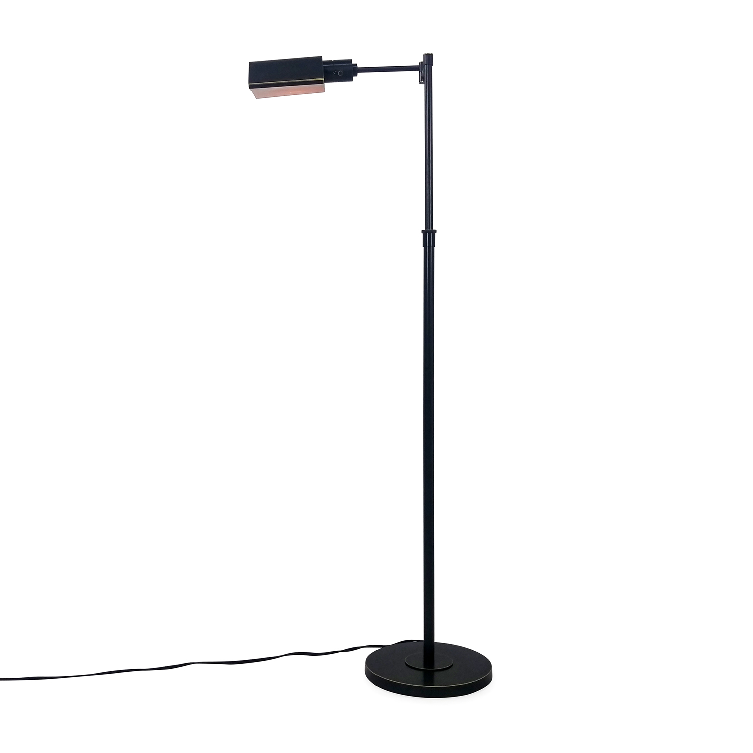 Adjustable Floor Lamp in Copper Finish dimensions