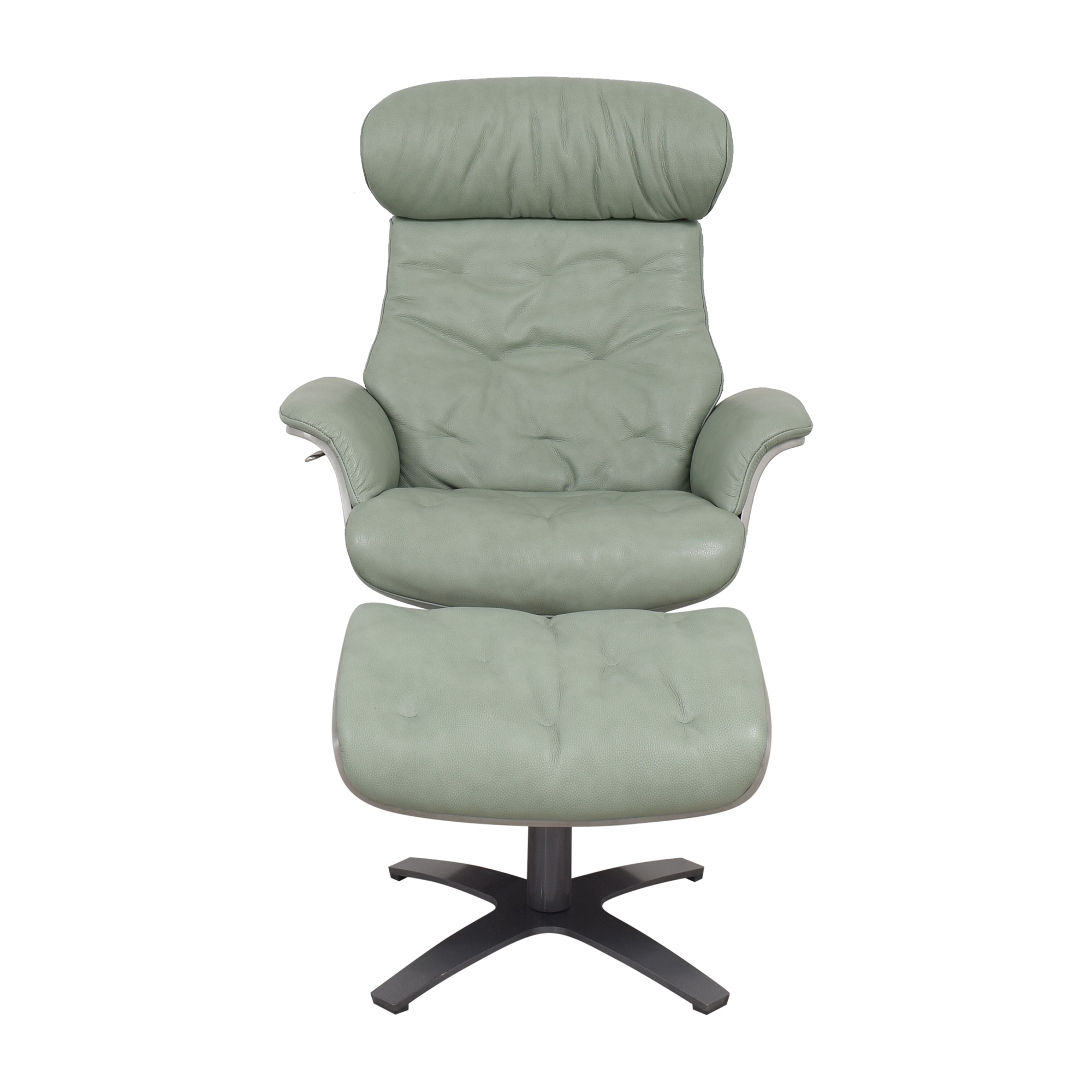 buy Sit Down New York Matsson Mint Chair and Ottoman Sit Down New York