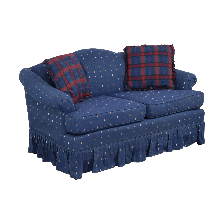 Pem-Kay Pem-Kay Camelback Slipcovered Loveseat blue