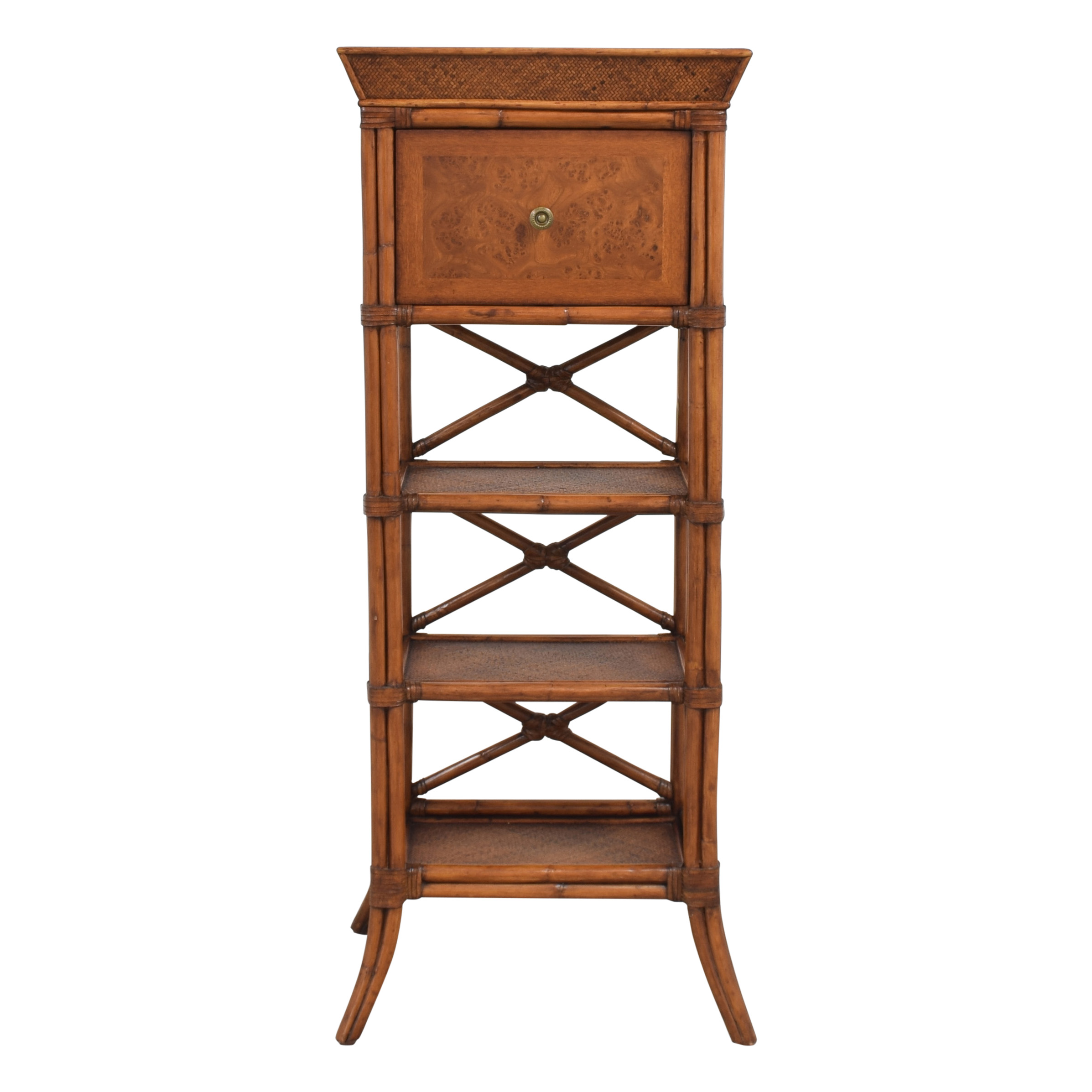 Bamboo Style Storage Tower second hand