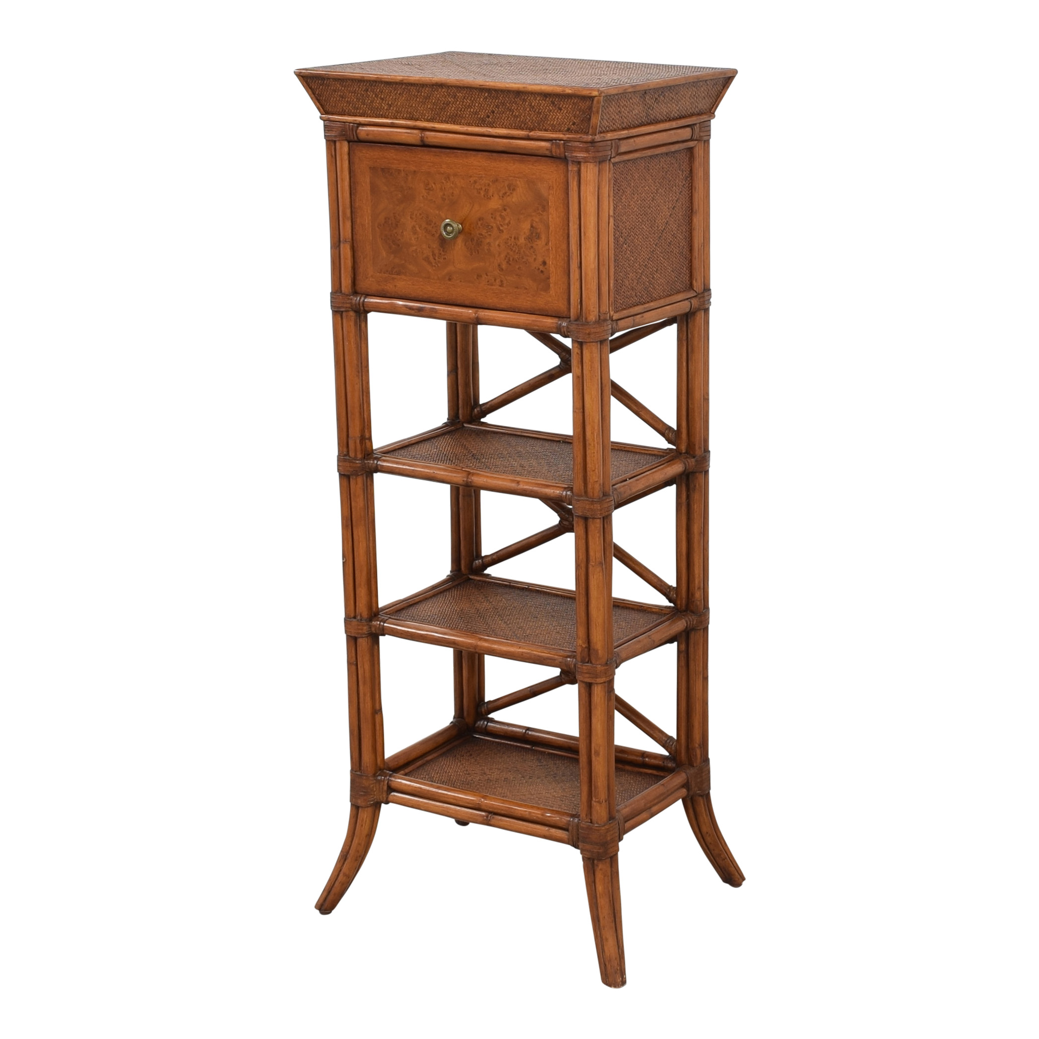 buy Bamboo Style Storage Tower  Tables