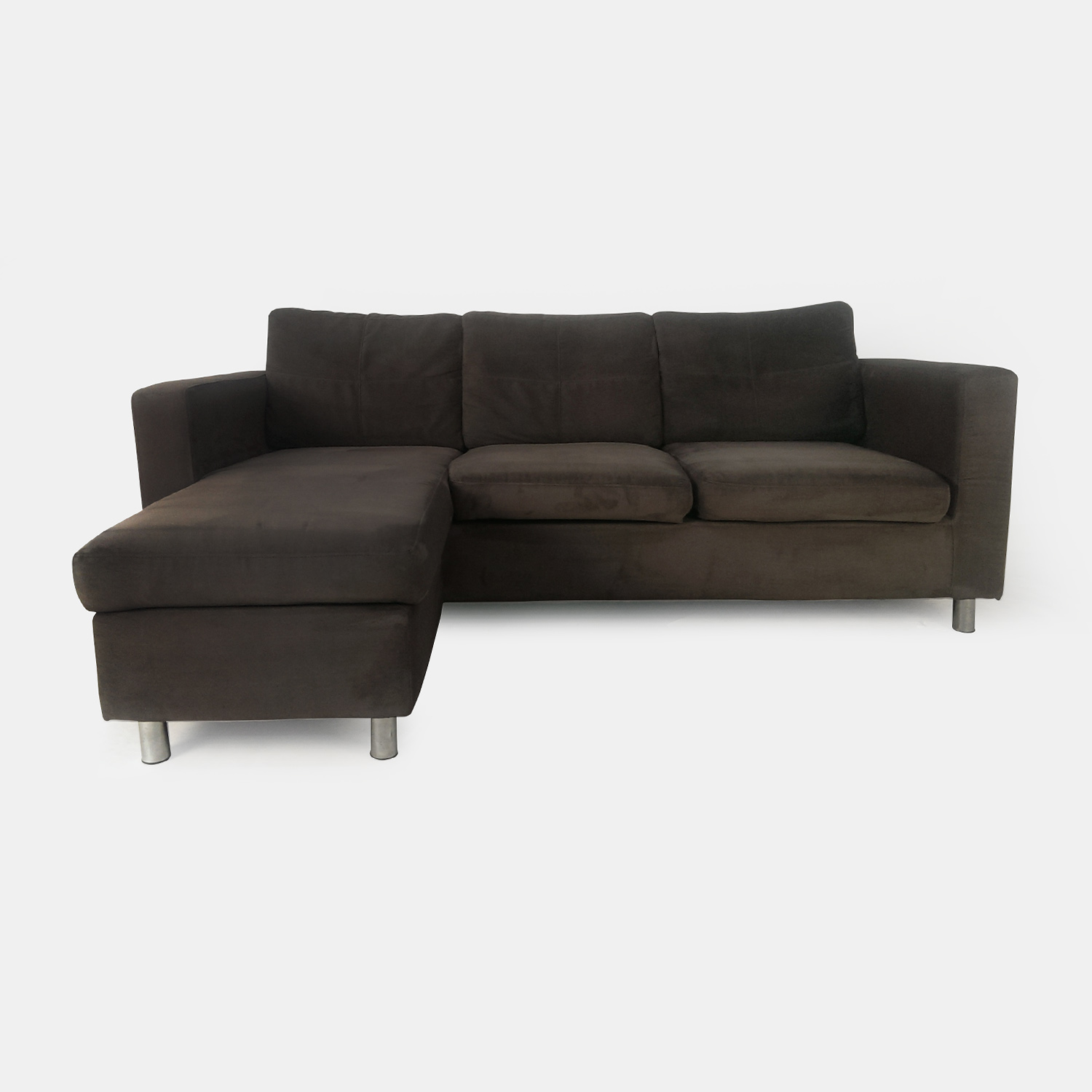 Brown suede couch brown suede couch and loveseat brown for Suede sectional