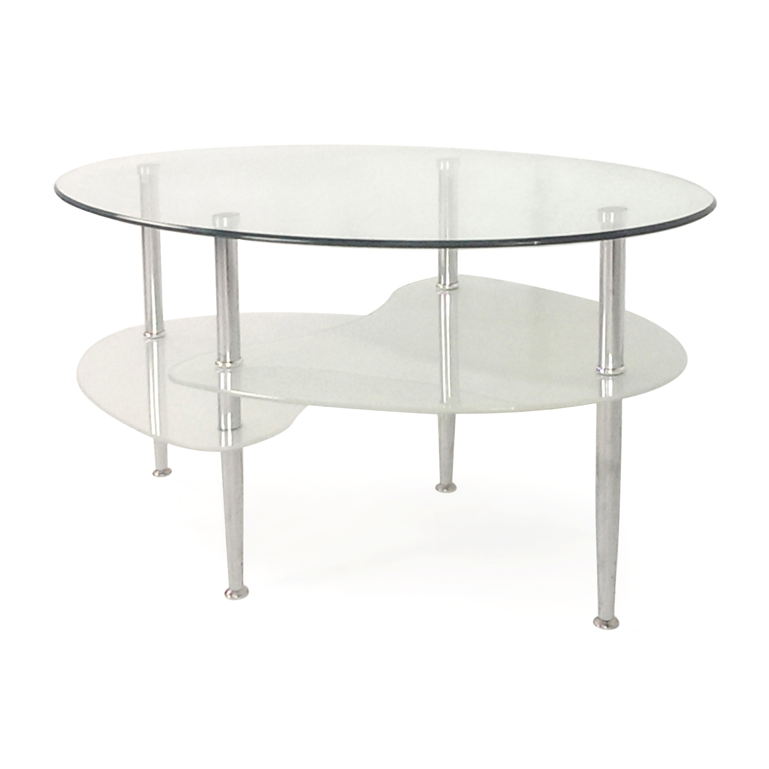 54 off overstock modern glass coffee table tables Used glass coffee table