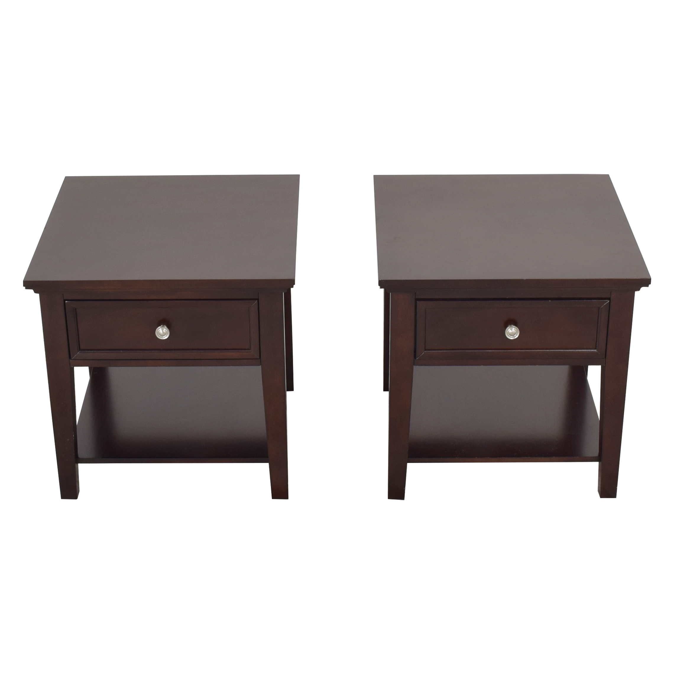 Coaster Single Drawer Cappuccino End Tables / End Tables