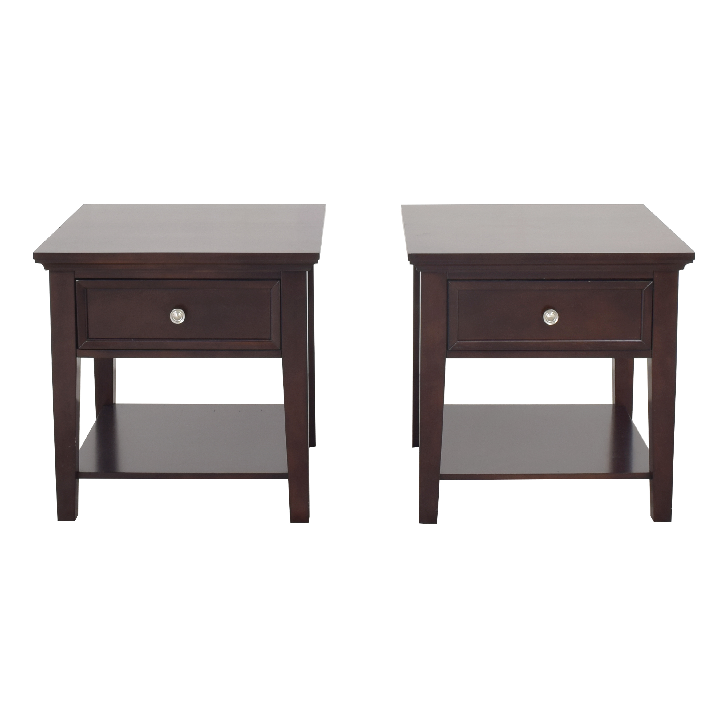 Coaster Fine Furniture Coaster Single Drawer Cappuccino End Tables ct