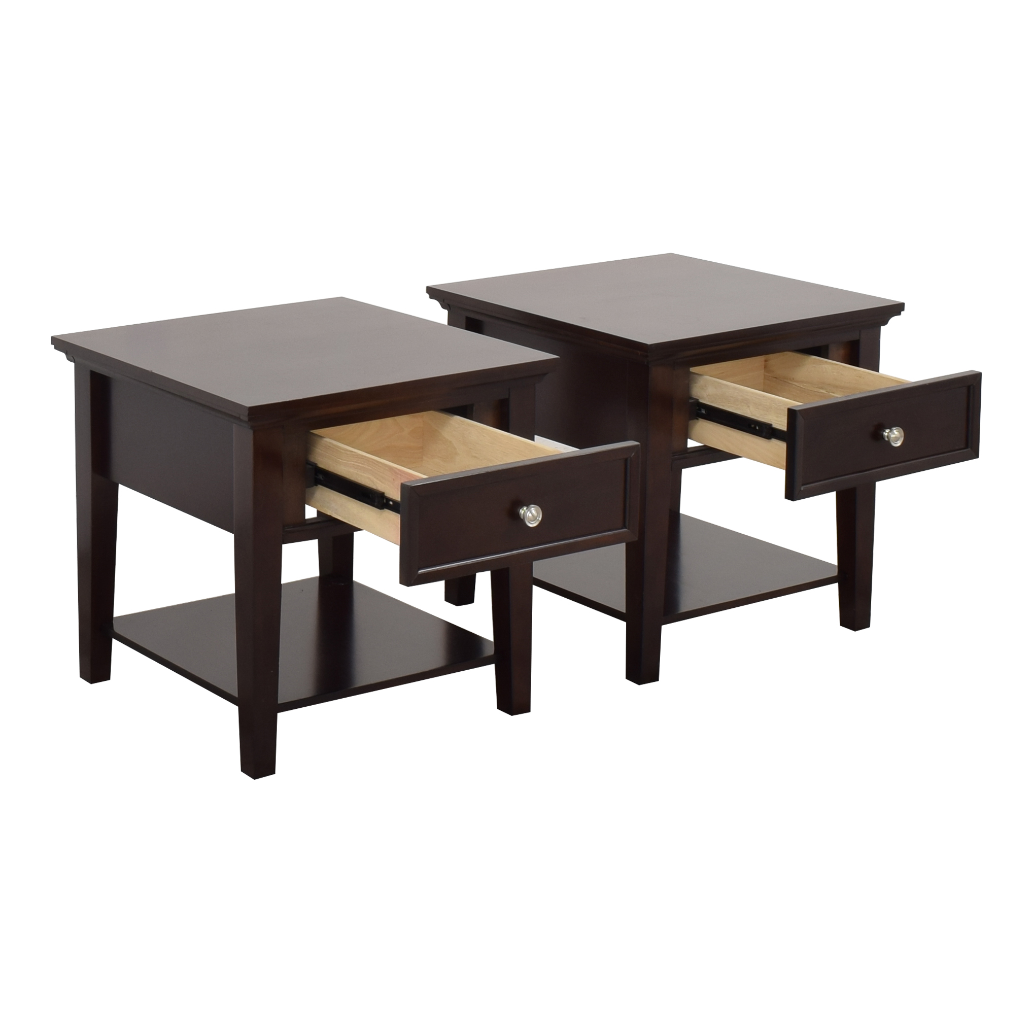 Coaster Single Drawer Cappuccino End Tables / Tables