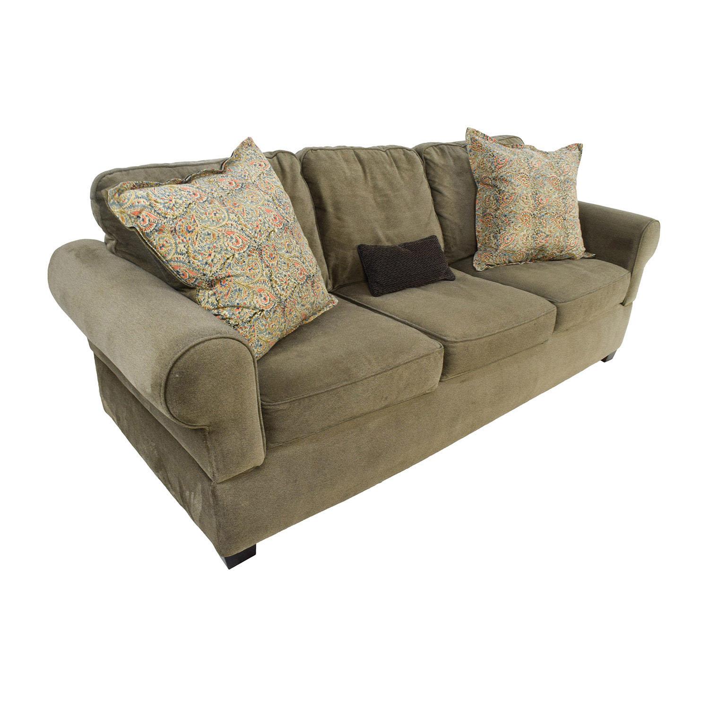 Jennifer Convertibles Jennifer Convertibles Green Smoke Couch