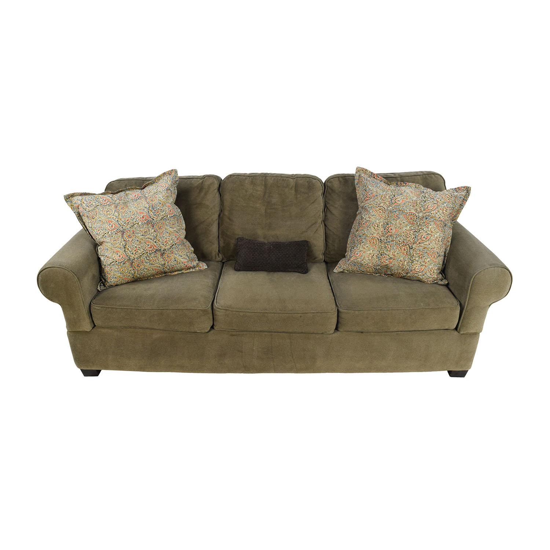 Jennifer Convertibles Jennifer Convertibles Green Smoke Couch nj