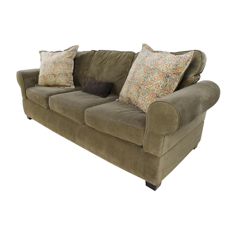 Jennifer Convertibles Jennifer Convertibles Green Smoke Couch used