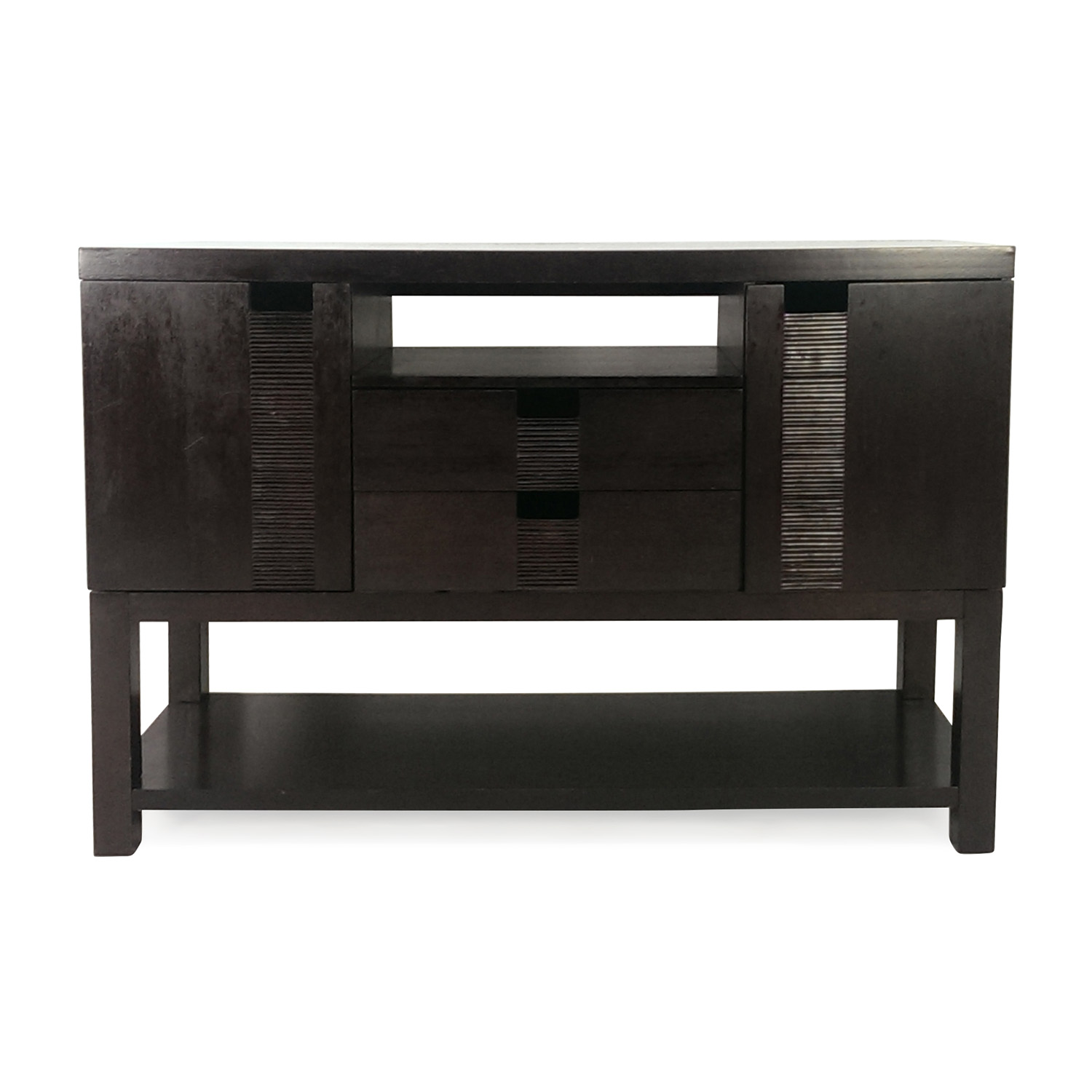 Chocolate Console and Media Table on sale