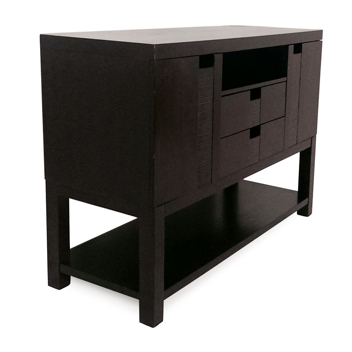 Media Tables: Chocolate Console And Media Table / Storage
