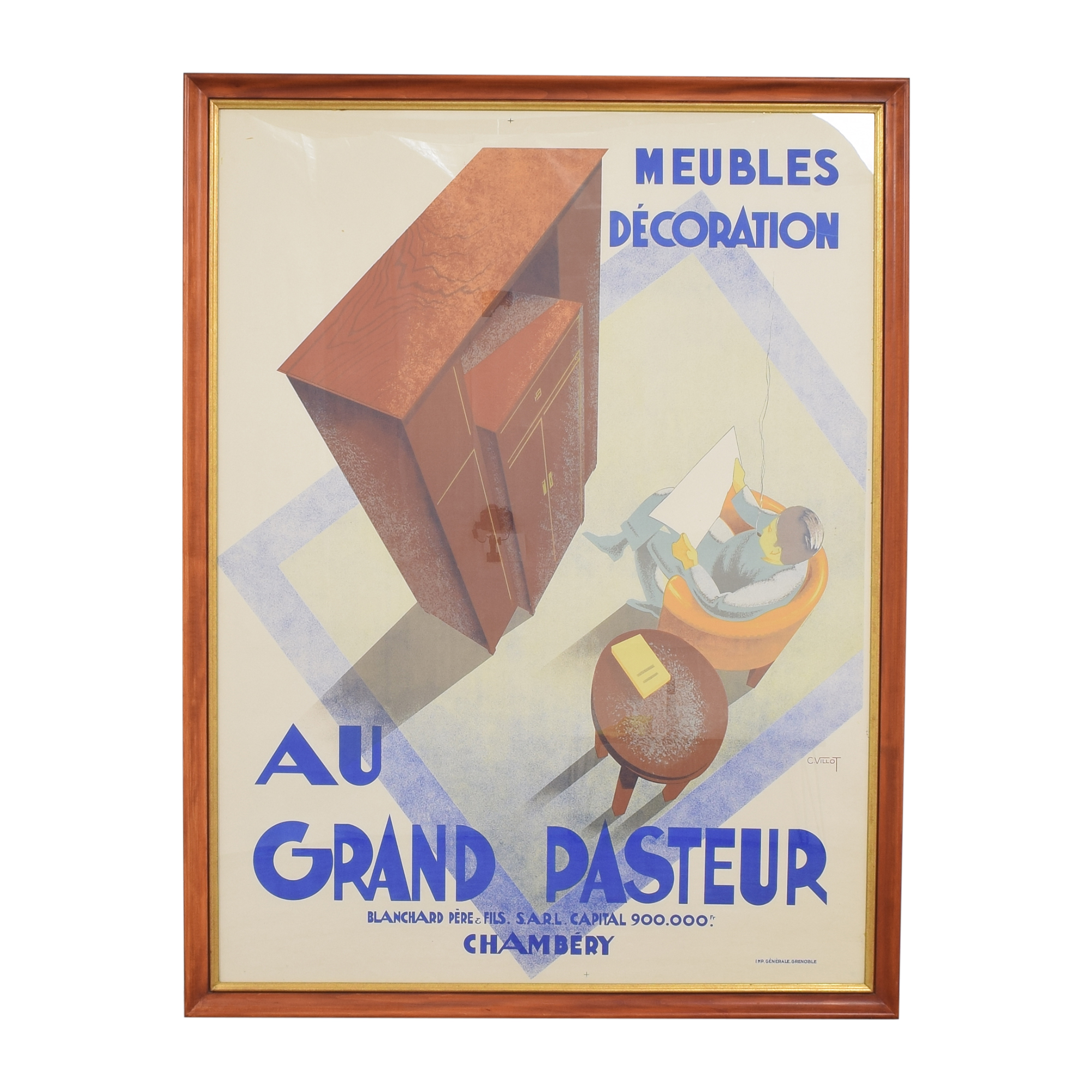 Framed Vintage Poster Decor