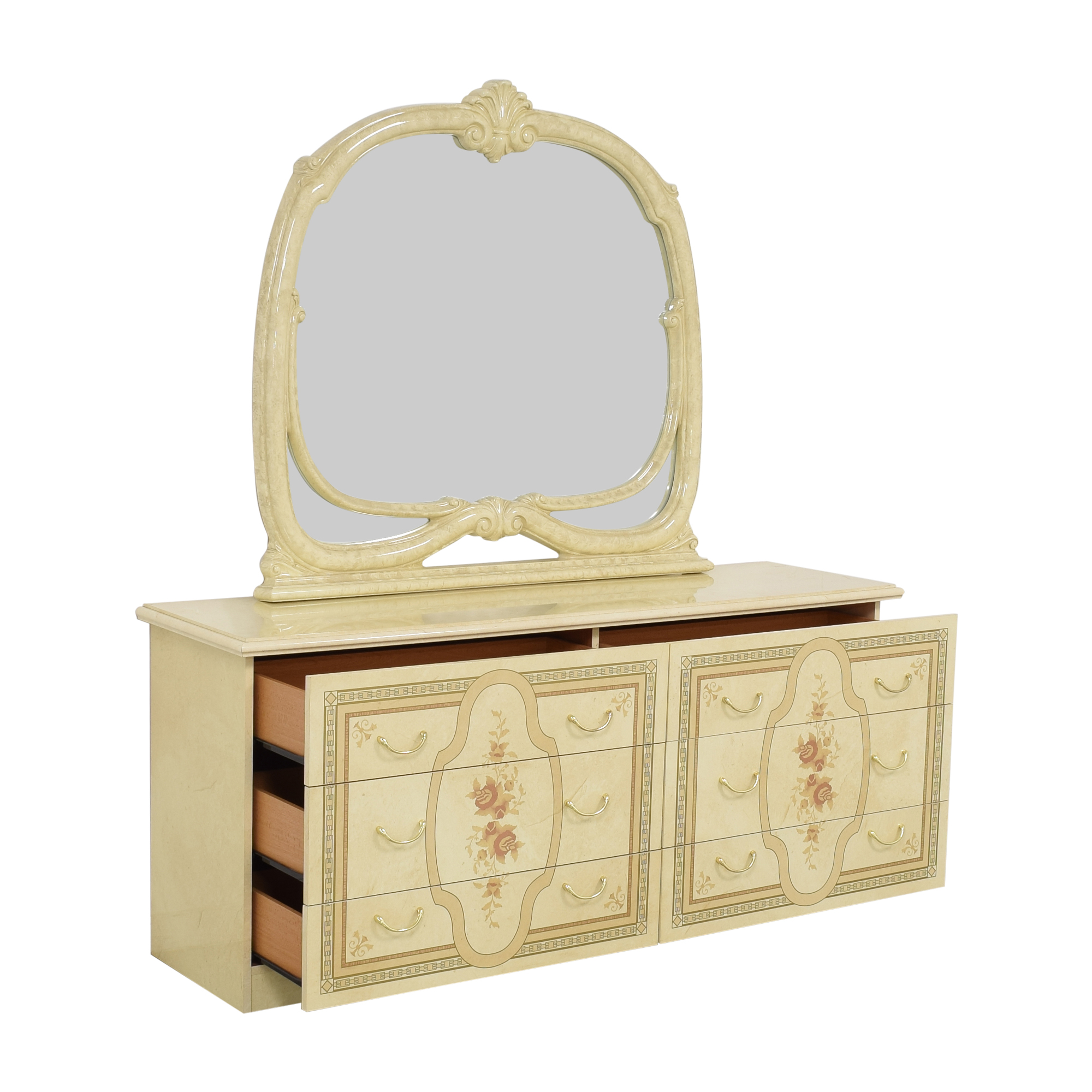 Roma Furniture Roma Furniture Dresser with Mirror nj