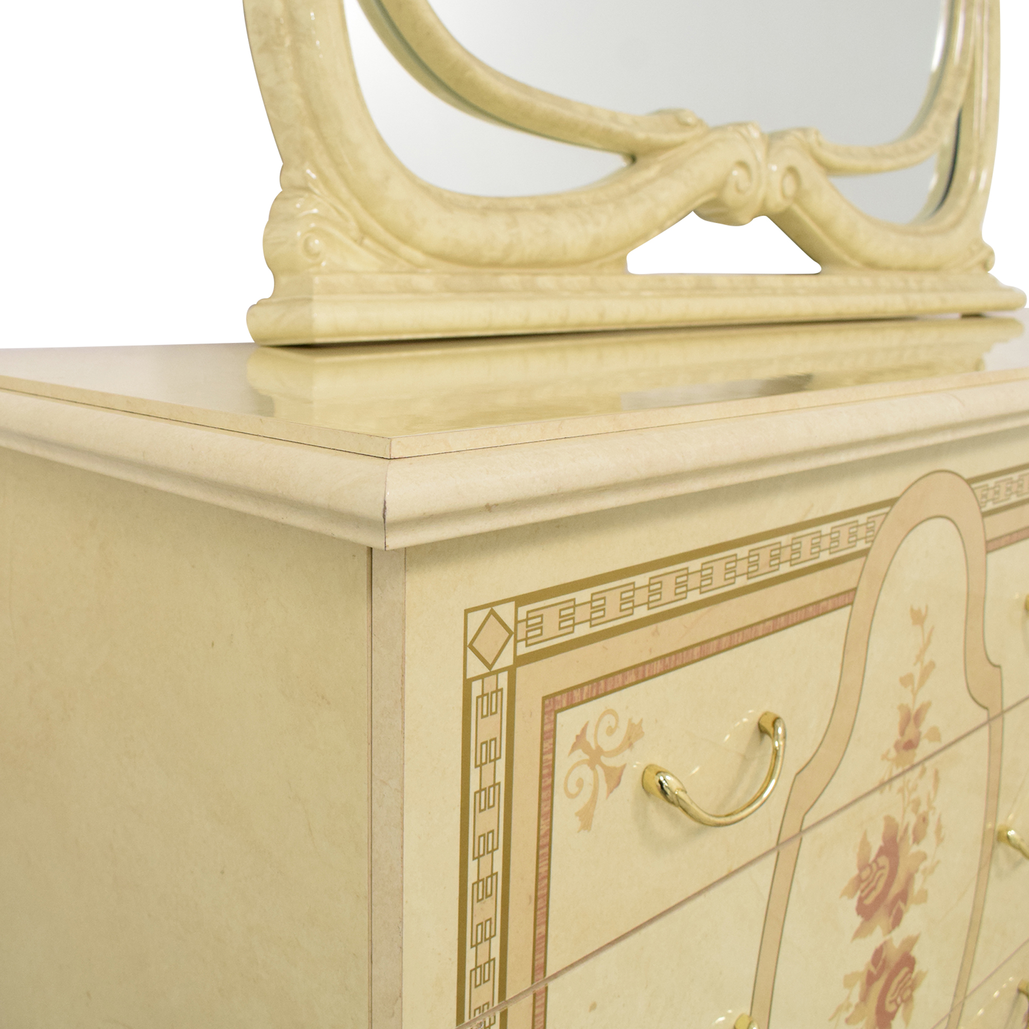 Roma Furniture Roma Furniture Dresser with Mirror ma