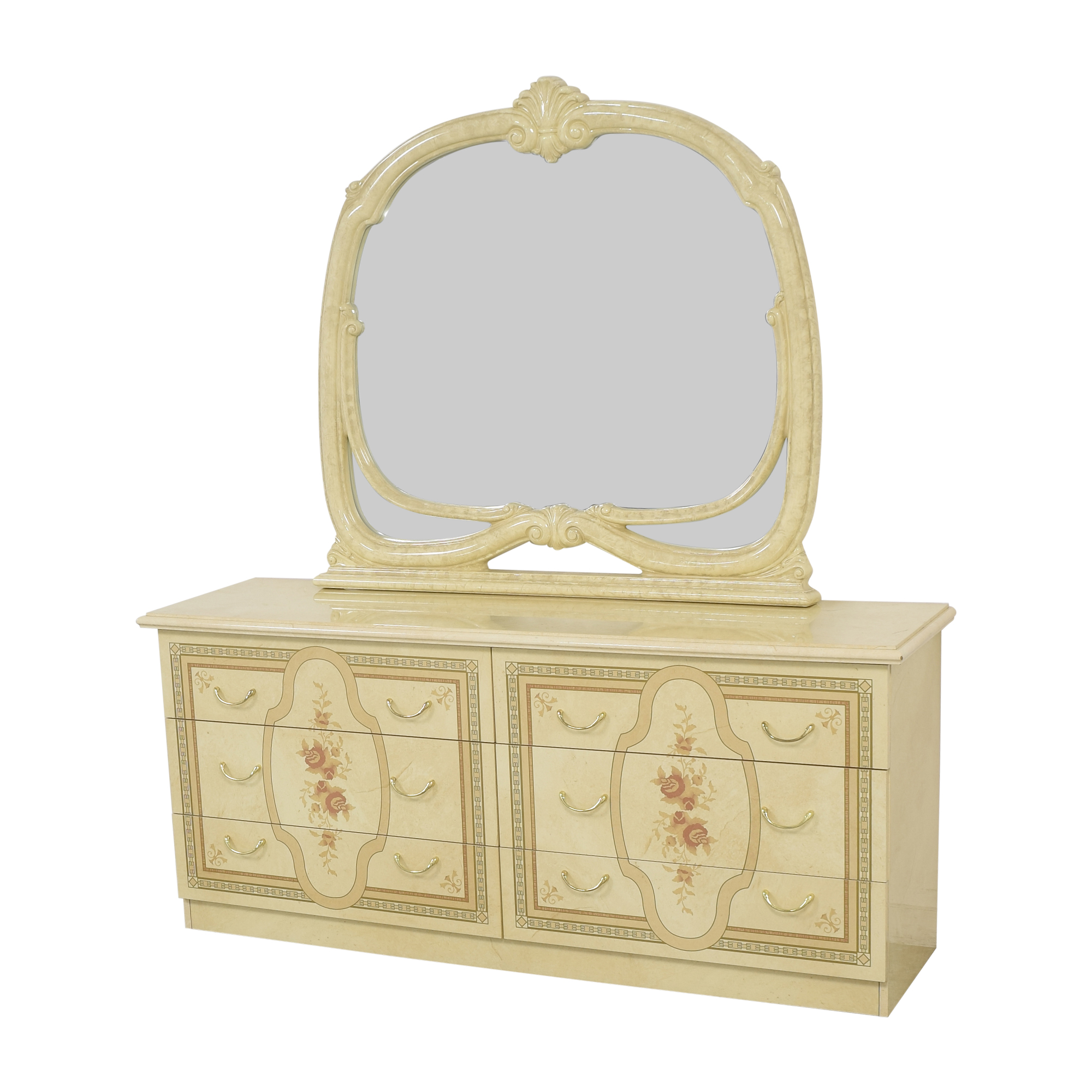 Roma Furniture Roma Furniture Dresser with Mirror nyc